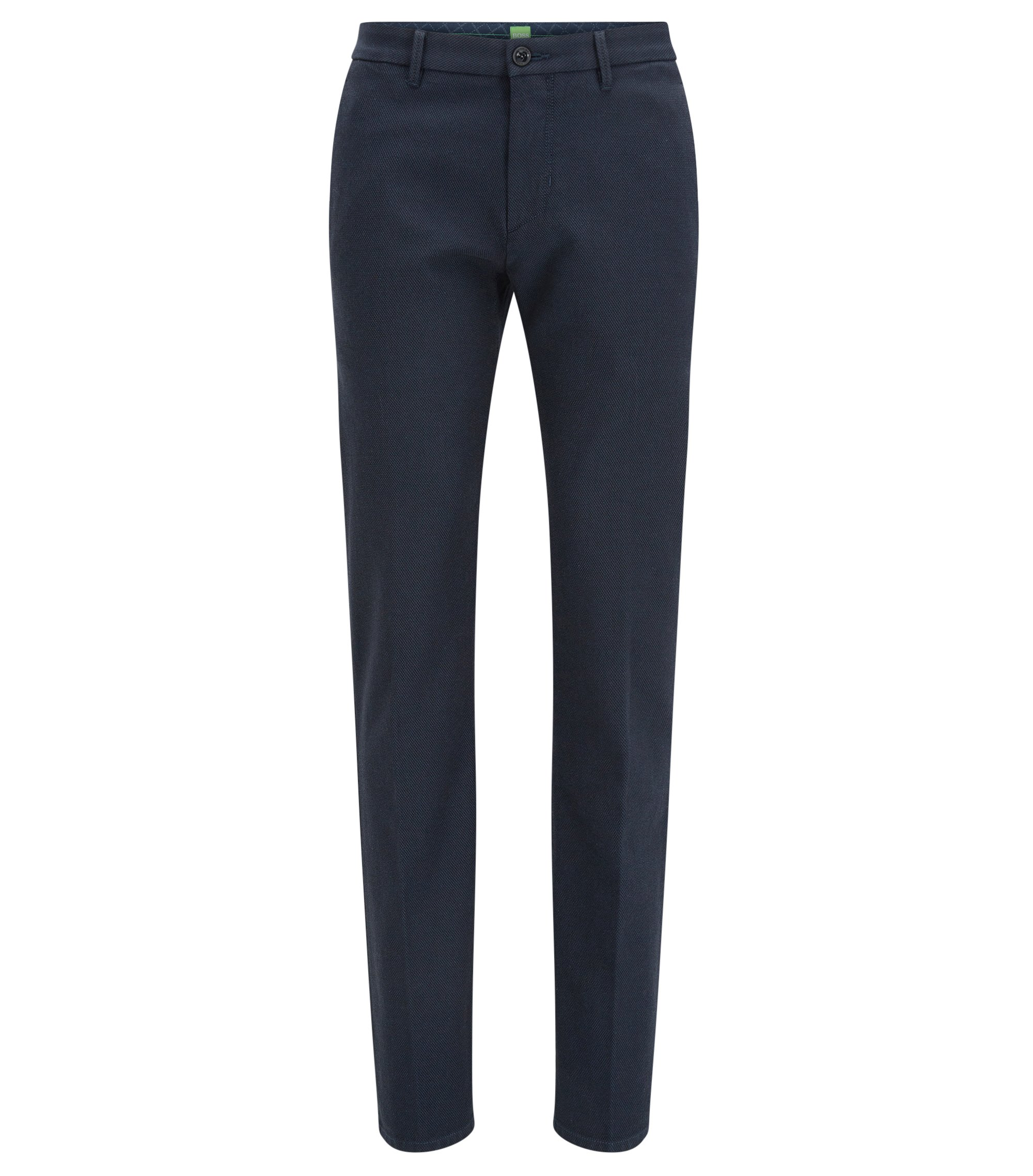 Slim-Fit Hose aus Stretch-Baumwolle, Dunkelblau