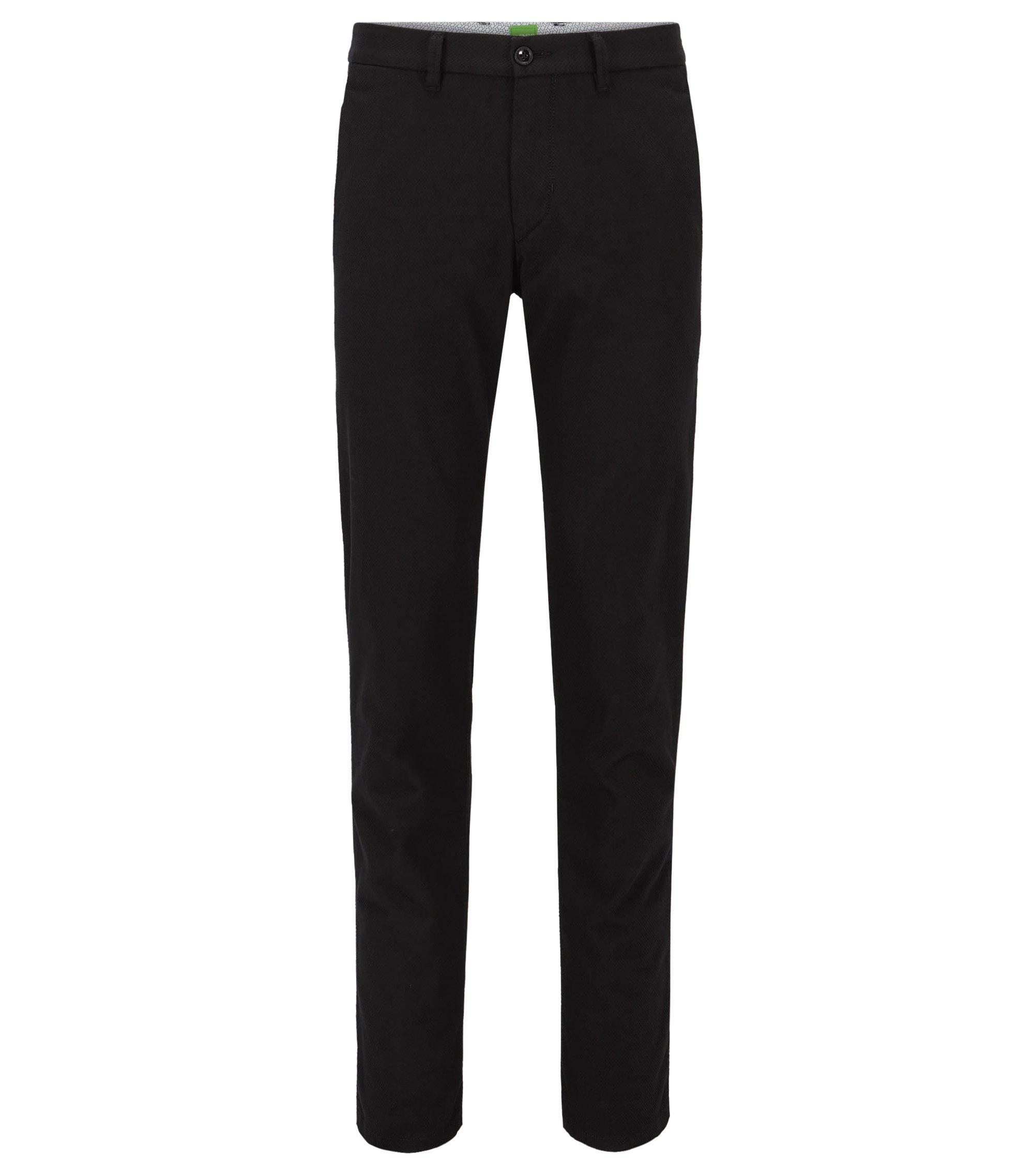 Slim-fit broek van stretchkatoen, Zwart