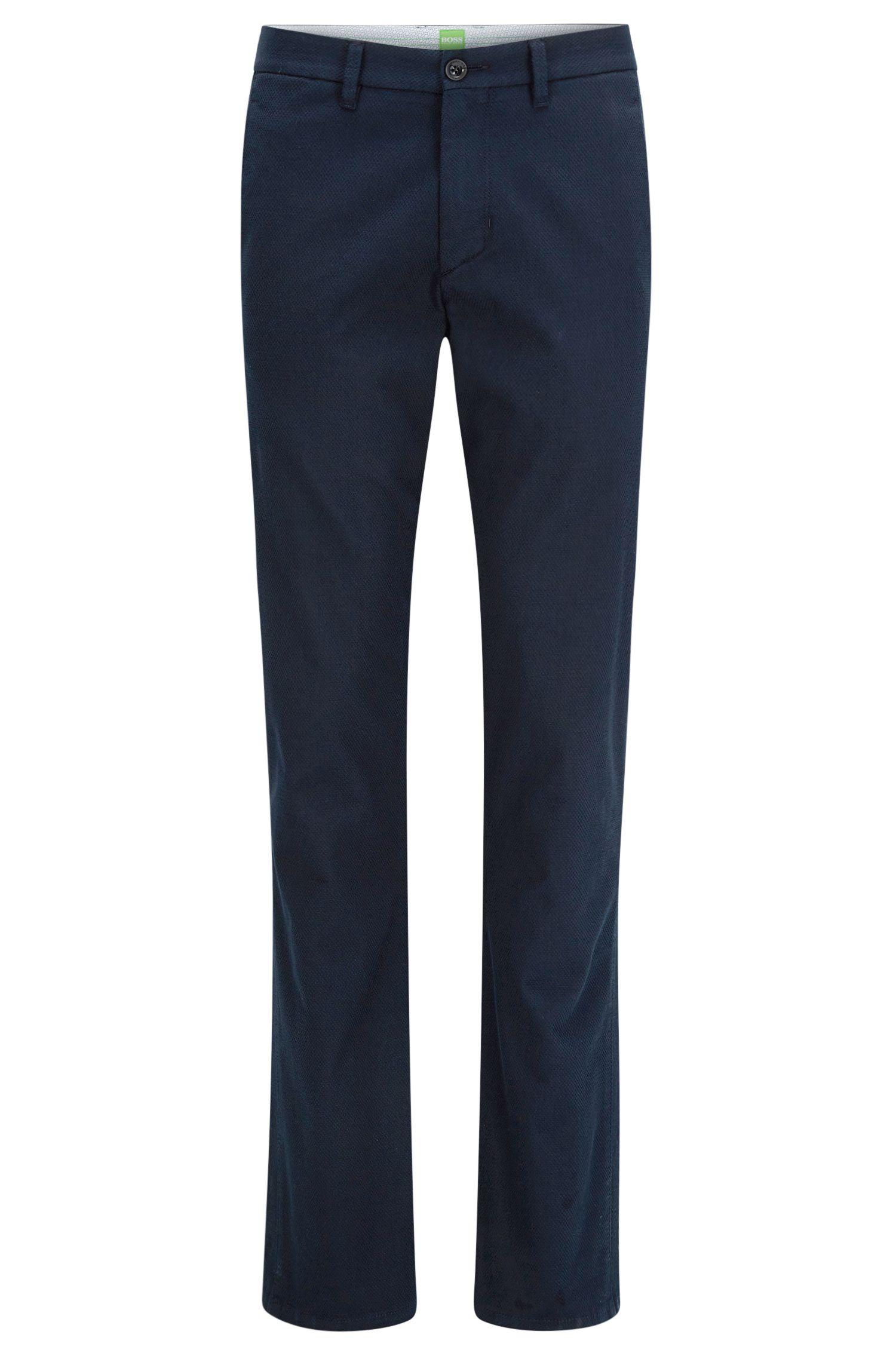Slim-fit broek van stretchkatoen