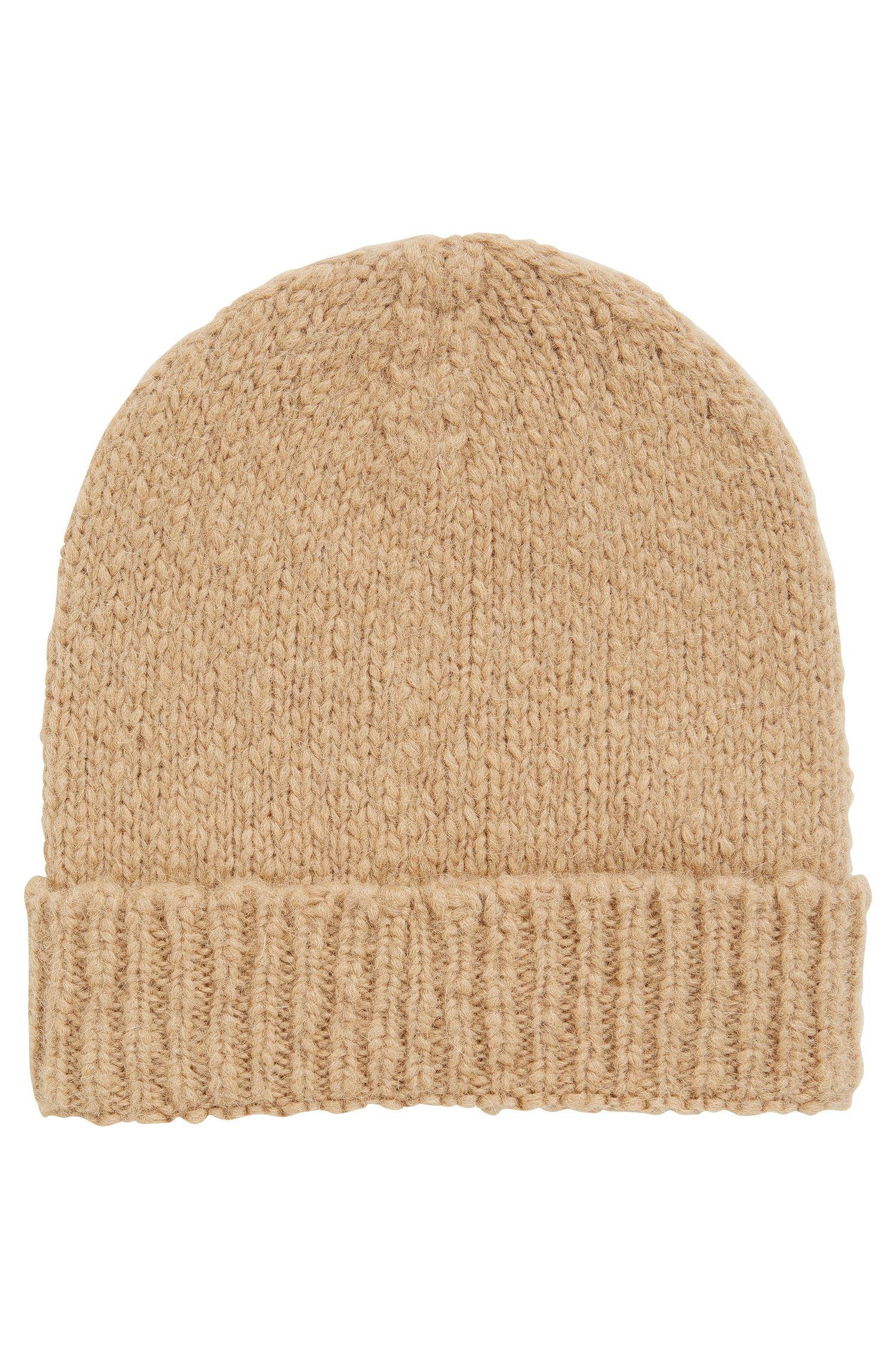 Bonnet en laine alpaga mélangée