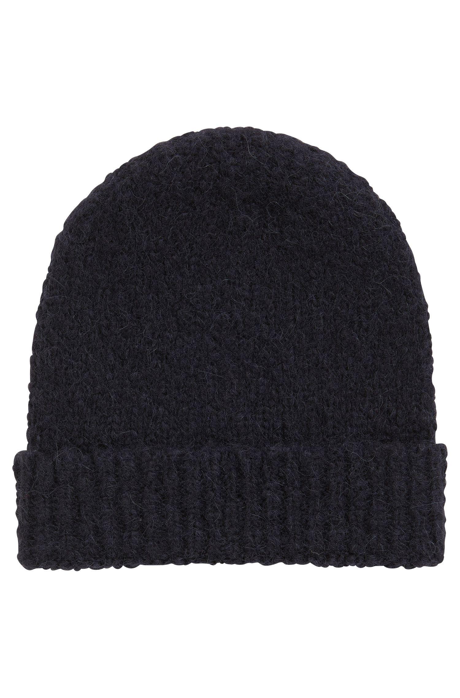 Beanie hat in an alpaca wool blend