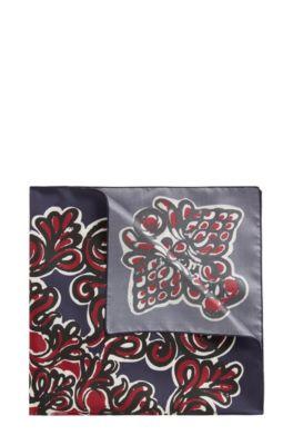 Bandana in printed silk, Dark Blue
