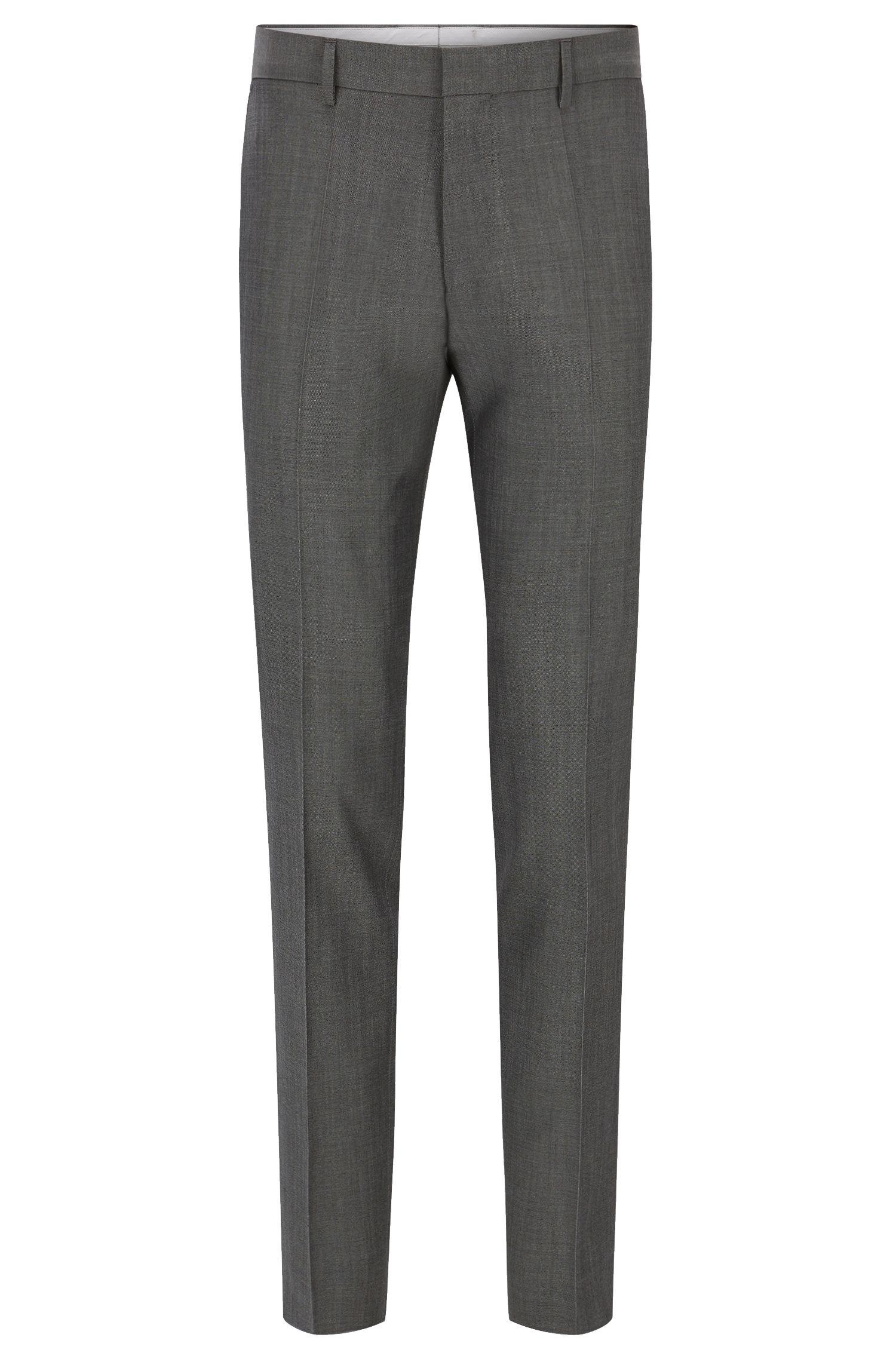 Pantaloni slim fit in lana vergine con dettaglio a contrasto