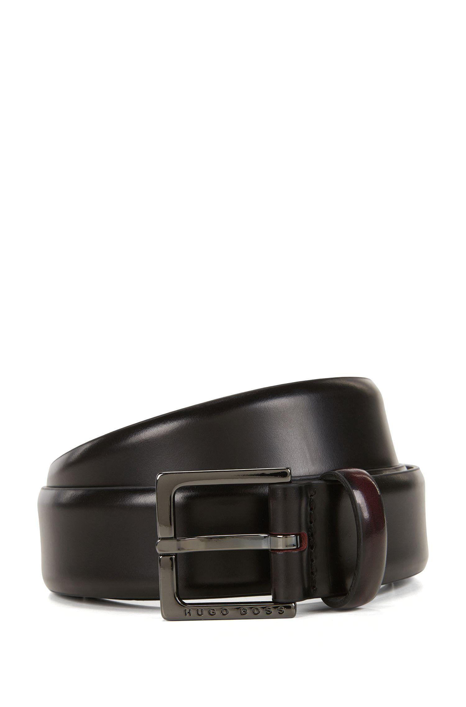 Chino-Gürtel aus glänzend poliertem Leder