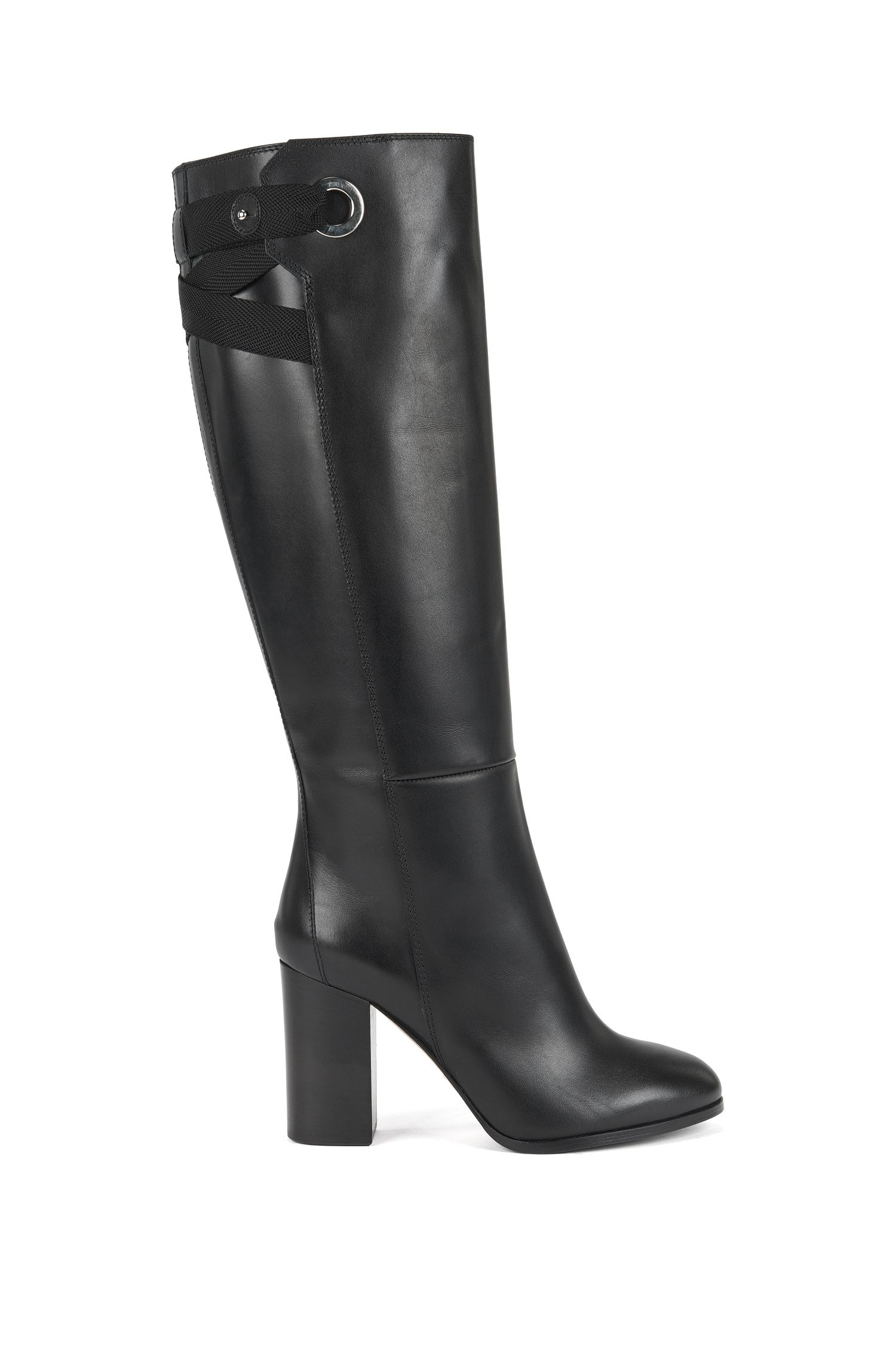 Knee-high boots in Italian leather