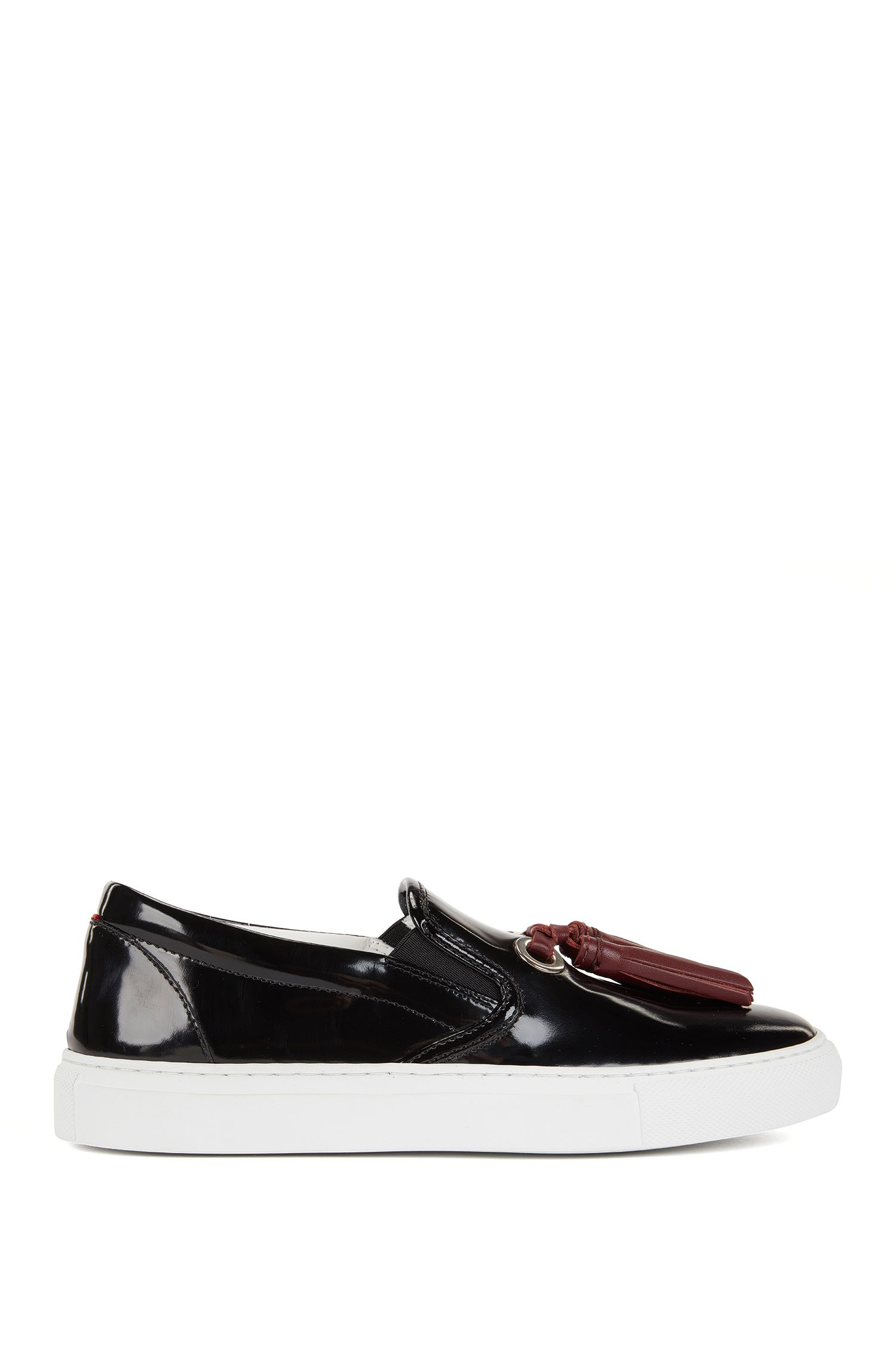 Tasselled loafers in Italian leather