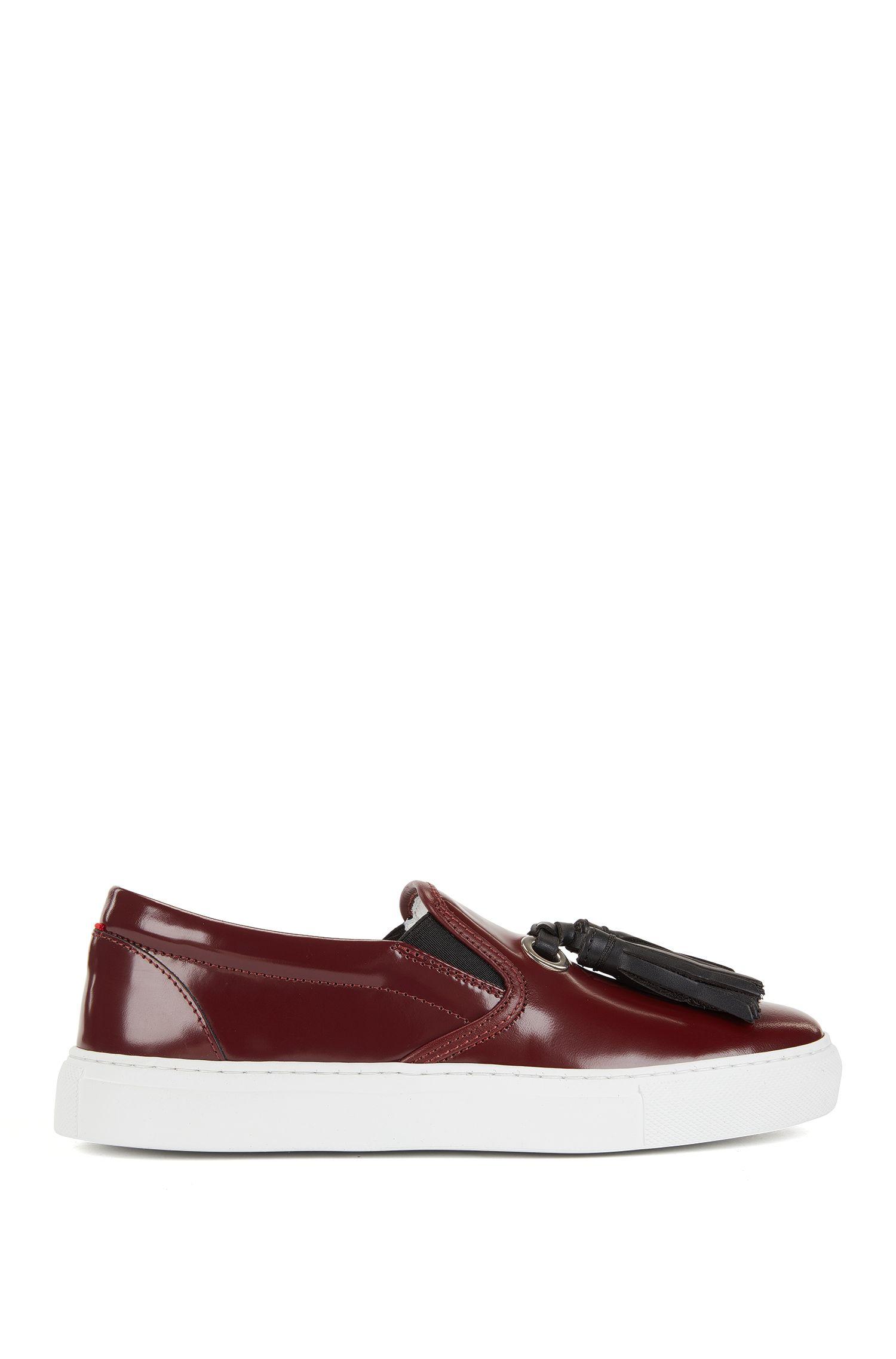 Loafers aus italienischem Leder mit Quasten