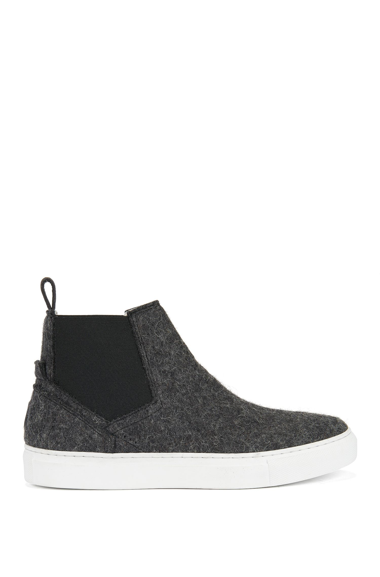 Wool Chelsea boots with elasticated panels
