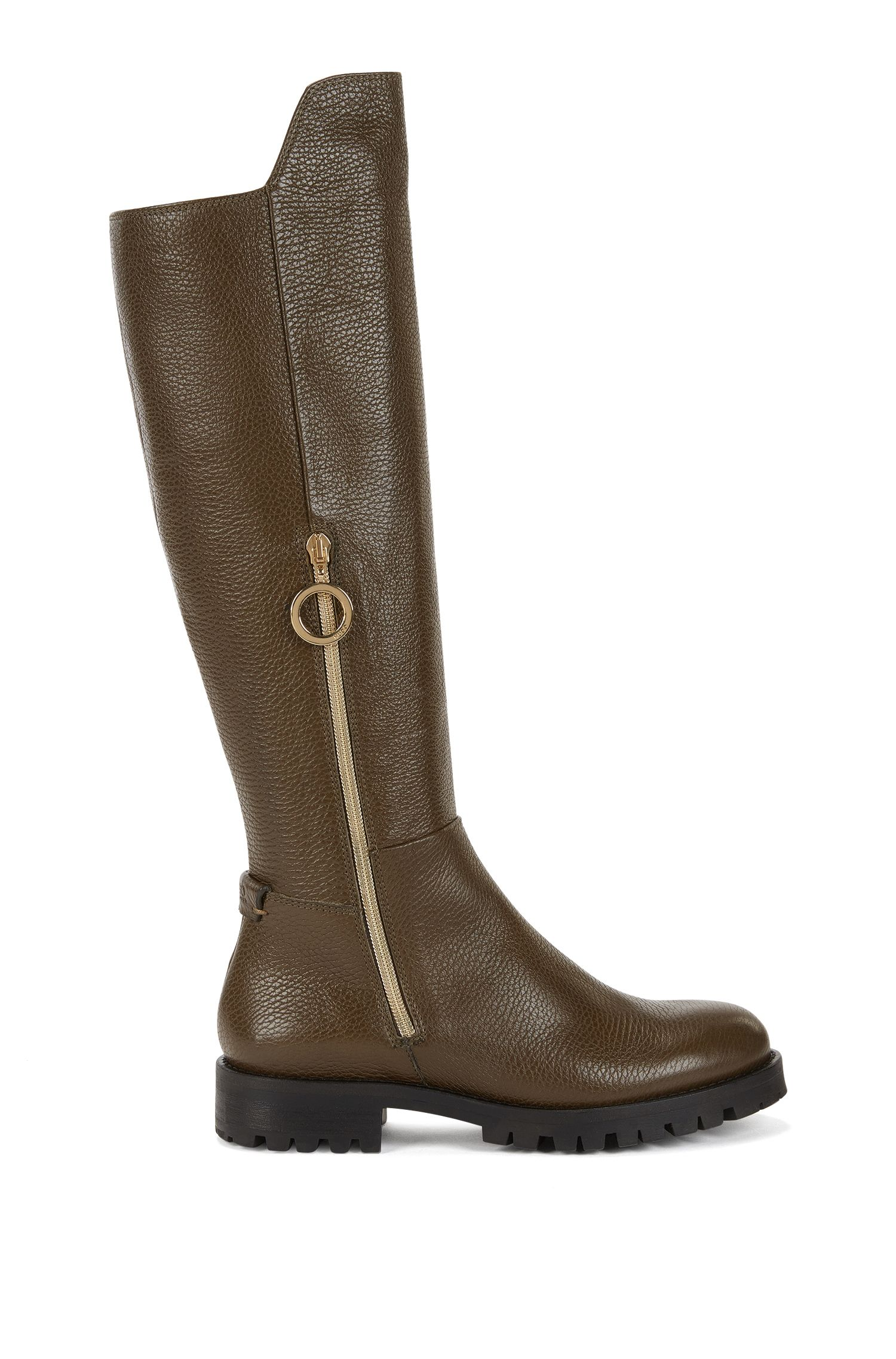 Riding boots in Italian leather