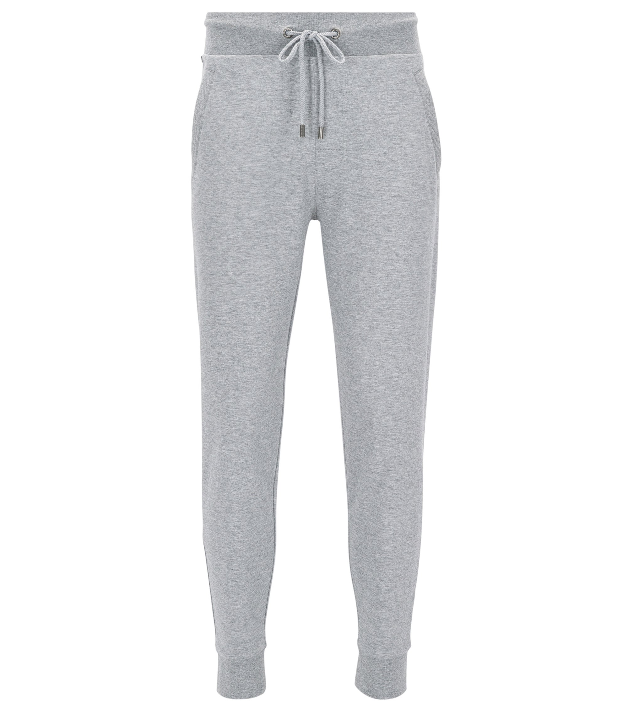 Drawstring jogging trousers in pure cotton, Grey