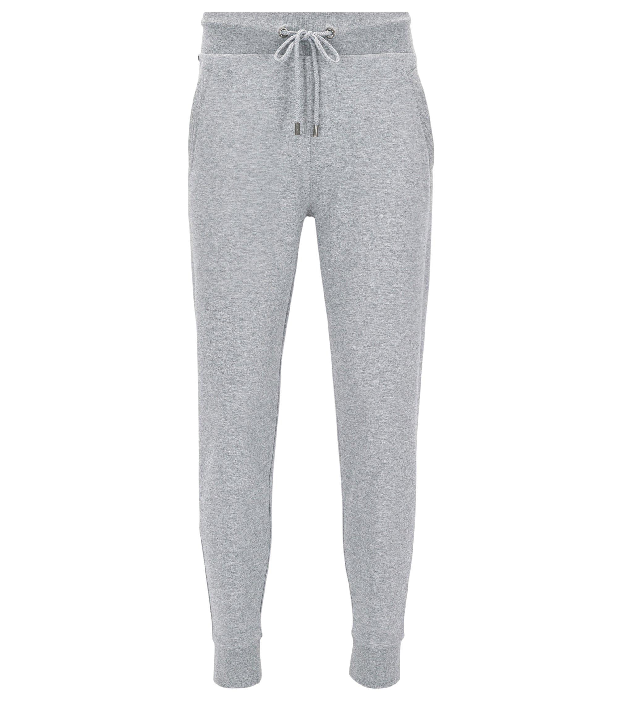 Pantaloni da jogging in puro cotone con cordoncino, Grigio