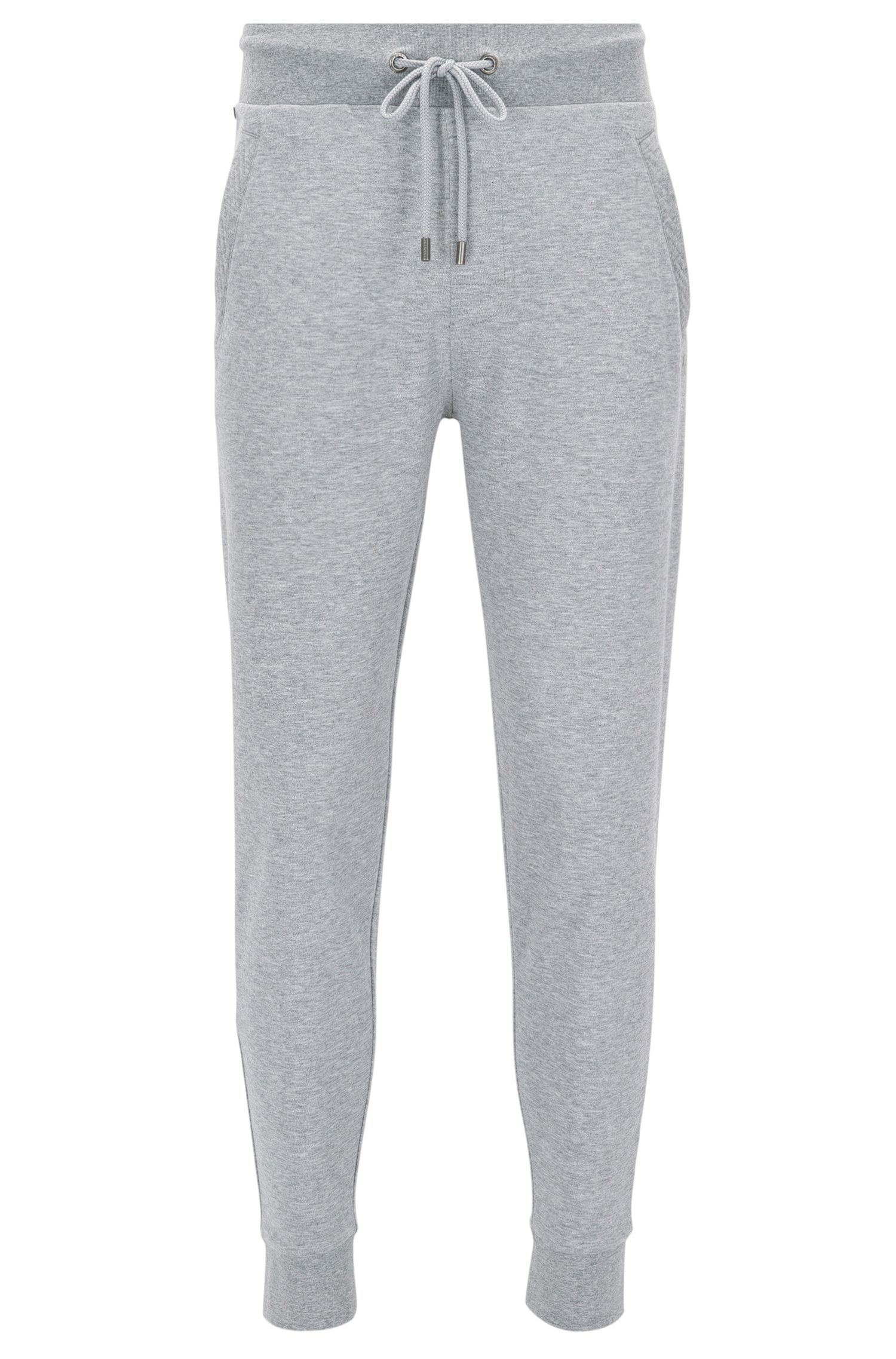 Drawstring jogging trousers in pure cotton