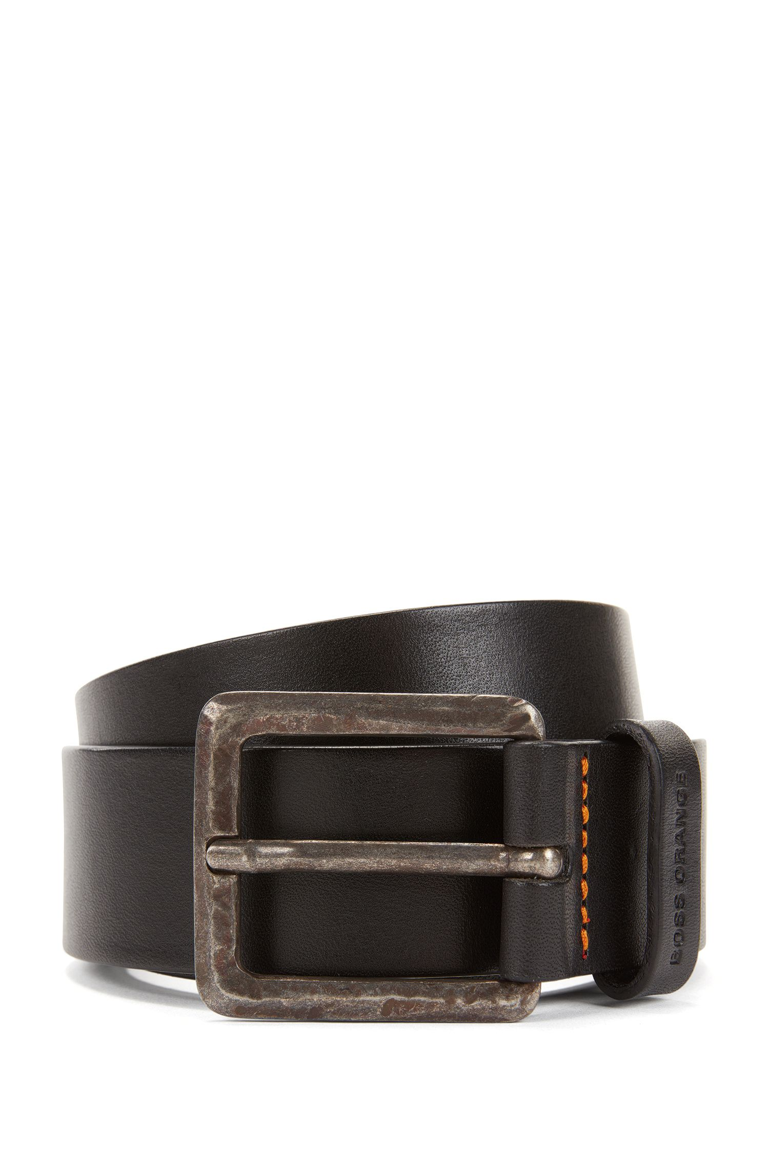 Leather belt with micro perforations