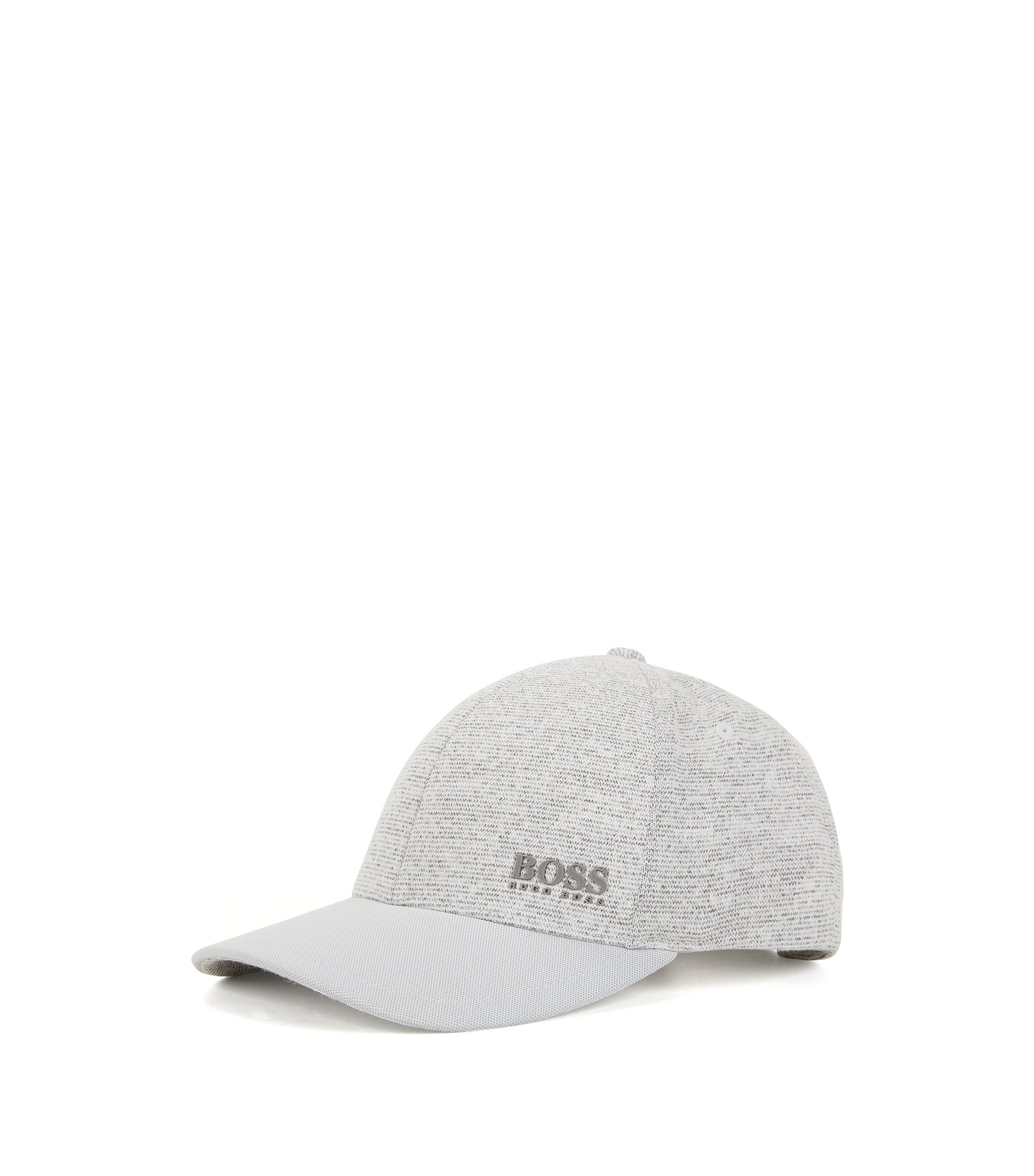 Hybrid baseball cap with technical piqué, Light Grey