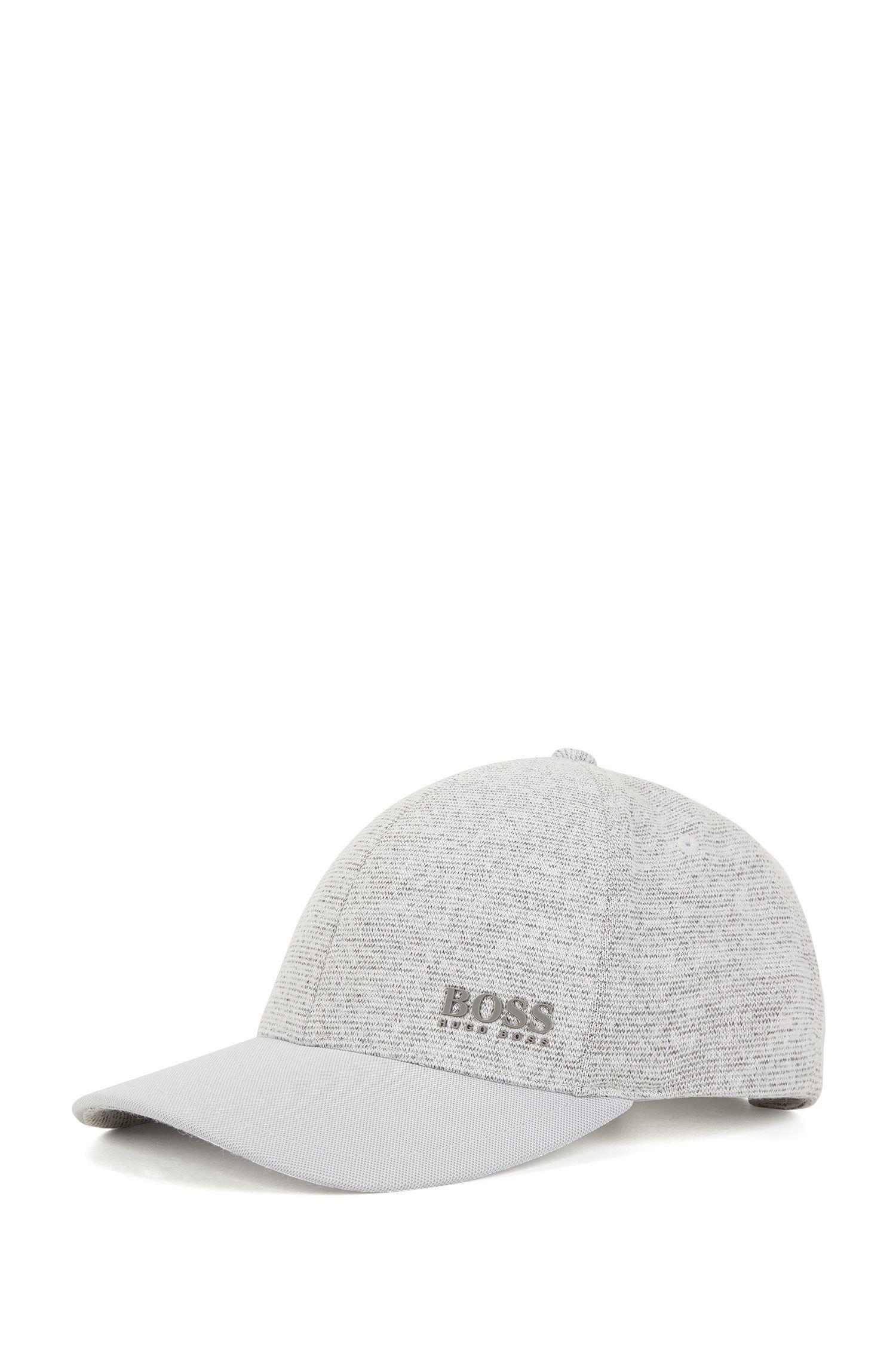 Cappellino da baseball in tessuto ibrido con piqué tecnico