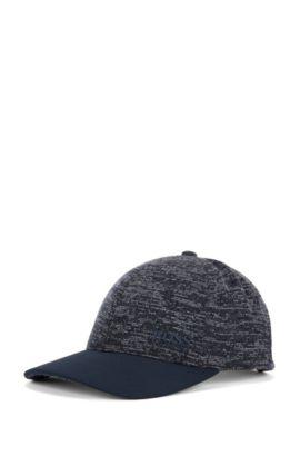 Cappellino da baseball in tessuto ibrido con piqué tecnico, Blu scuro