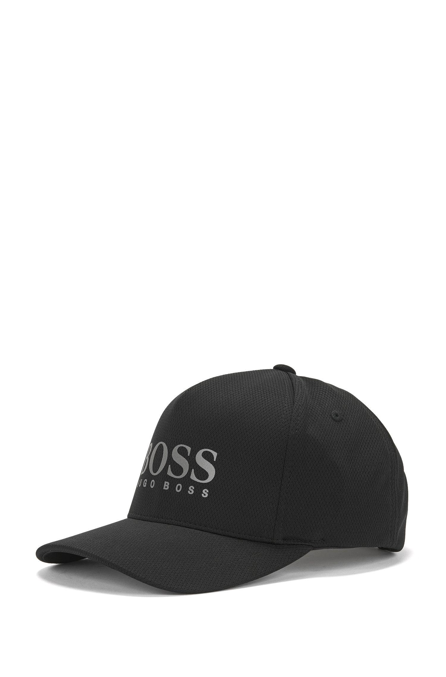 Cappellino da baseball con logo in jersey a nido d'ape