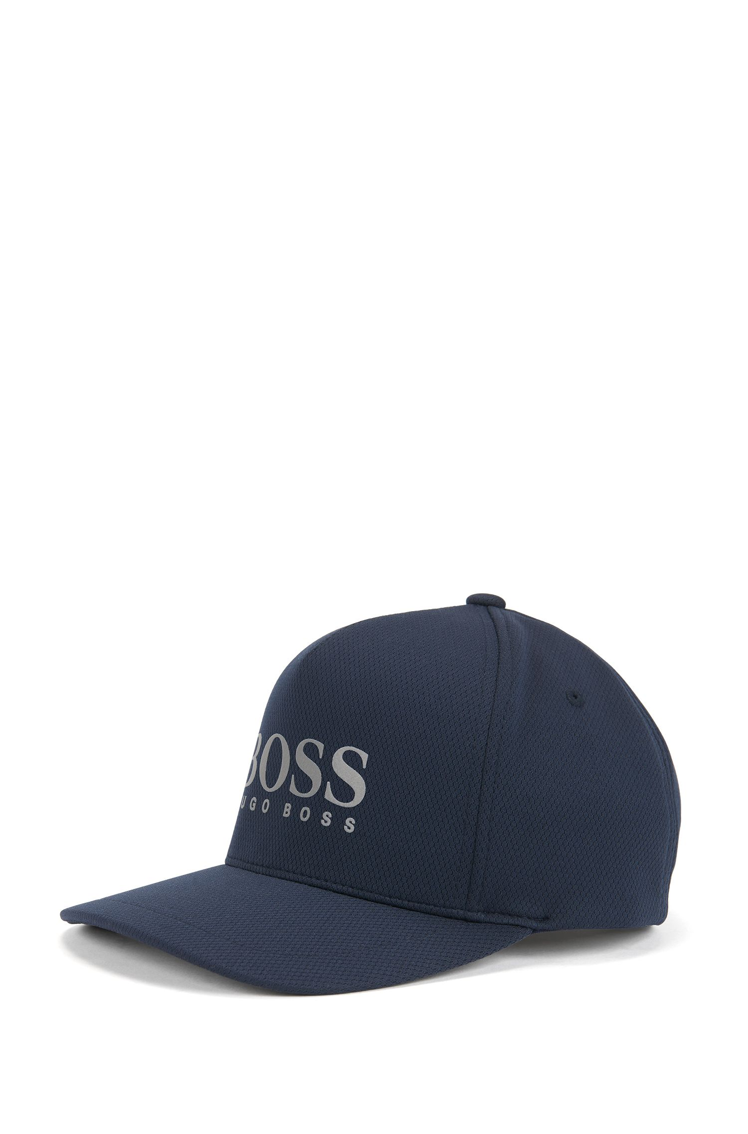 Logo-detail baseball cap in honeycomb jersey