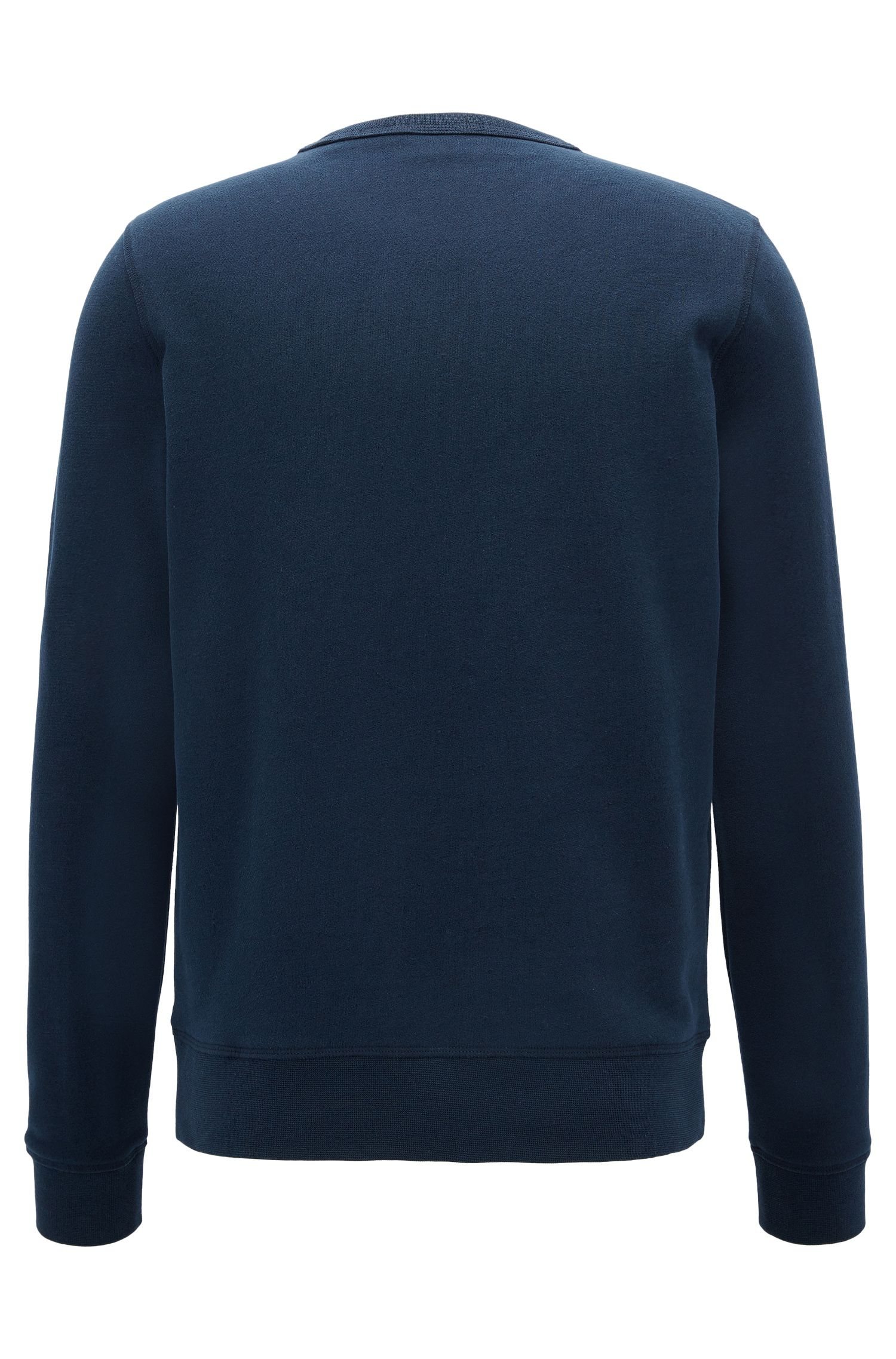 Cotton-blend sweatshirt with contrast stitched logo