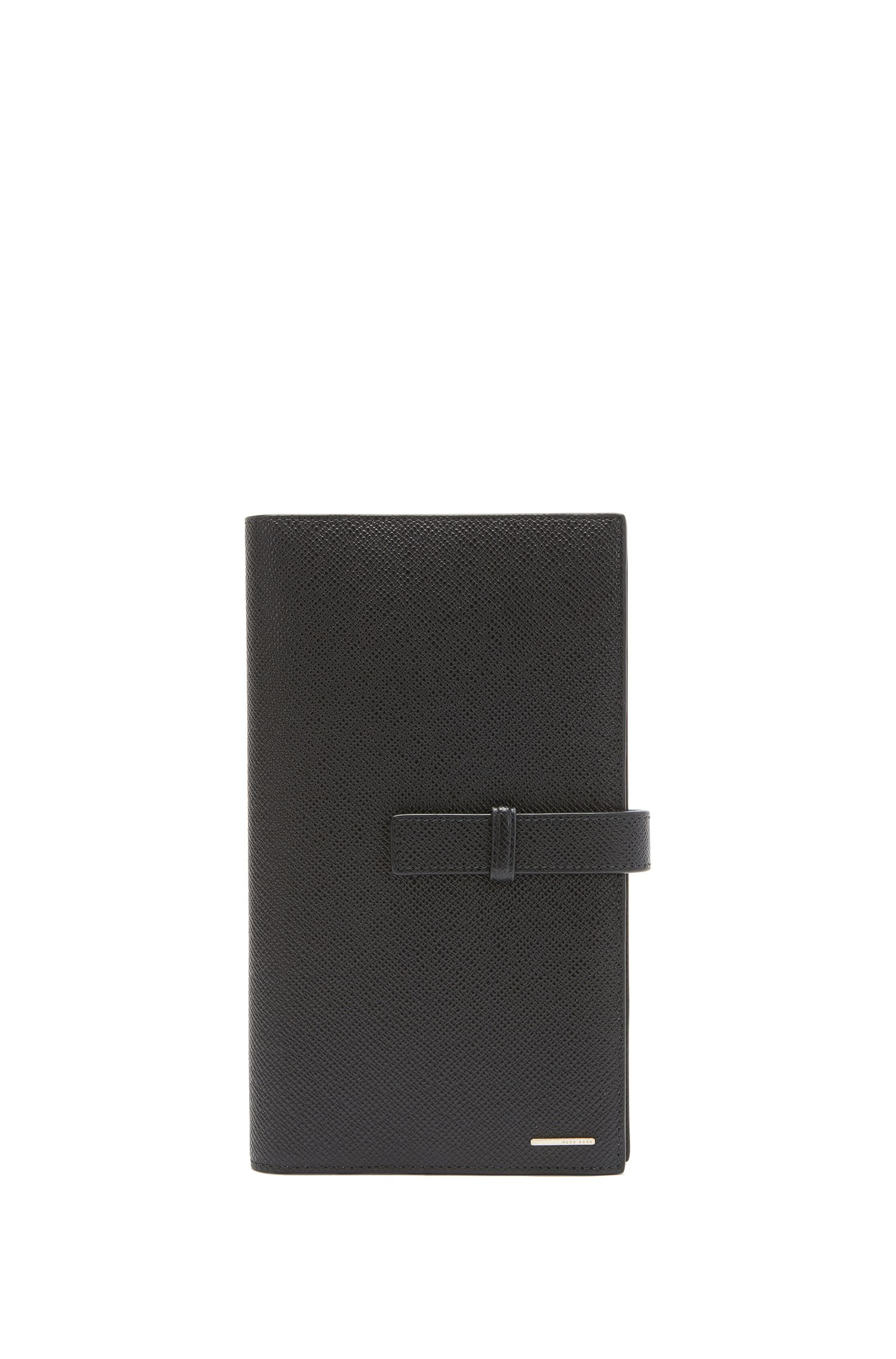 BOSS Luxury Staple wallet in textured leather