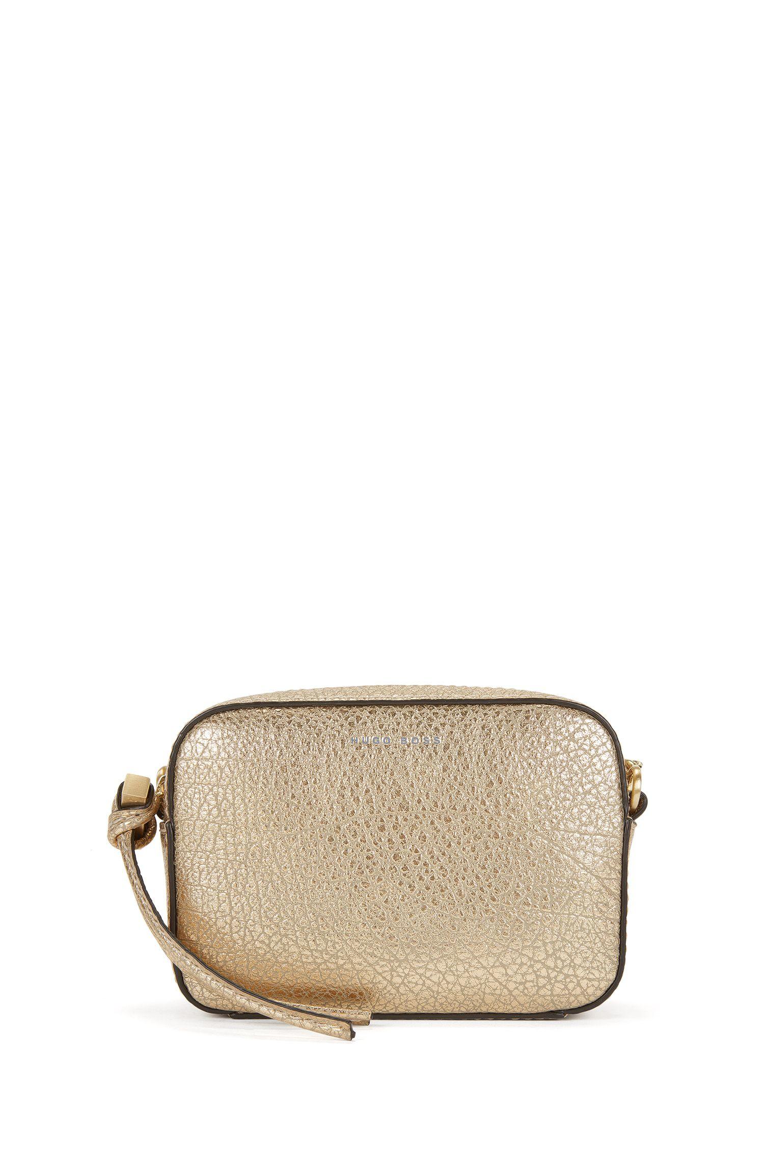 BOSS Bespoke Soft shoulder bag in metallic leather