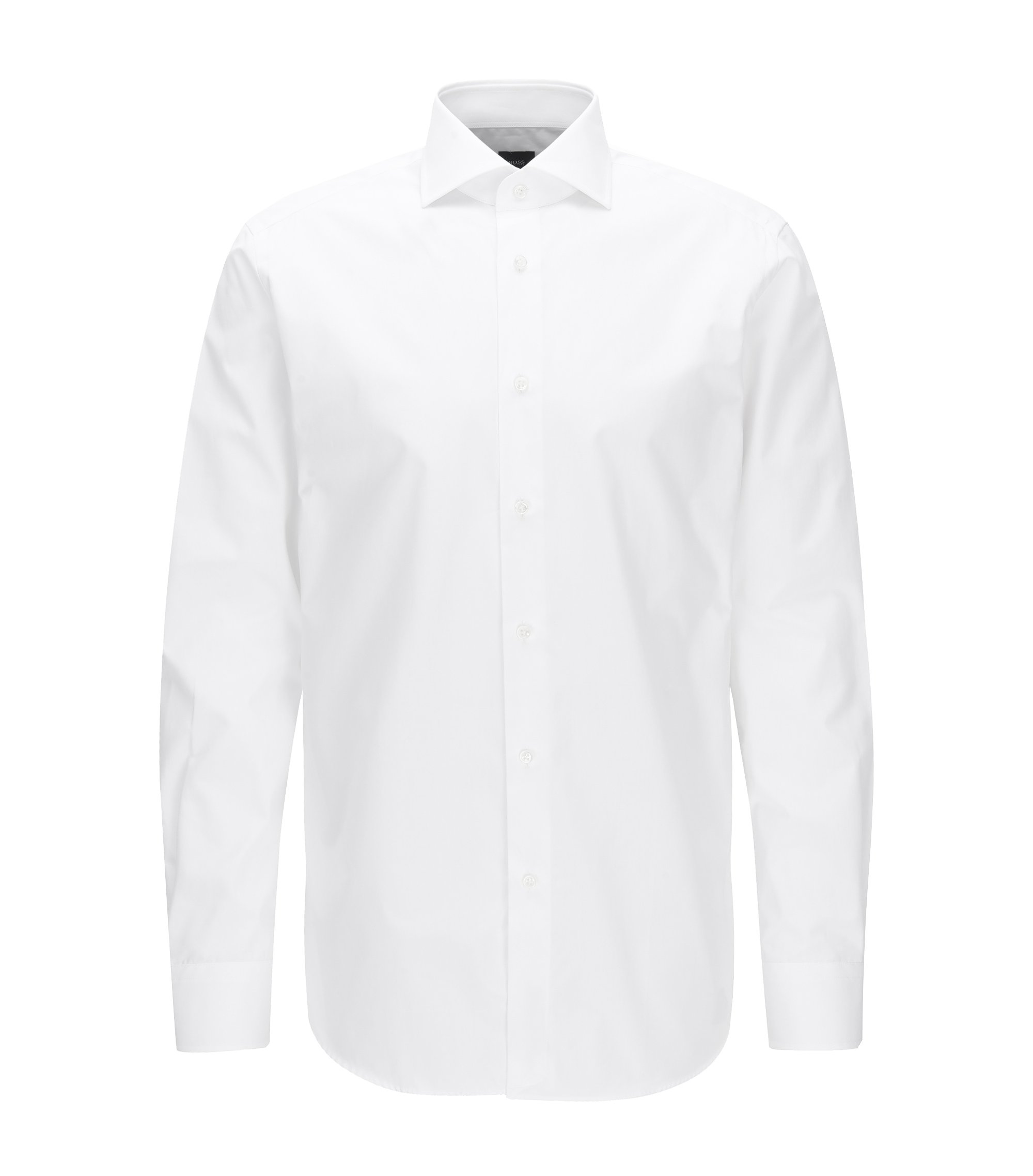 Regular-fit shirt in two-ply cotton, White