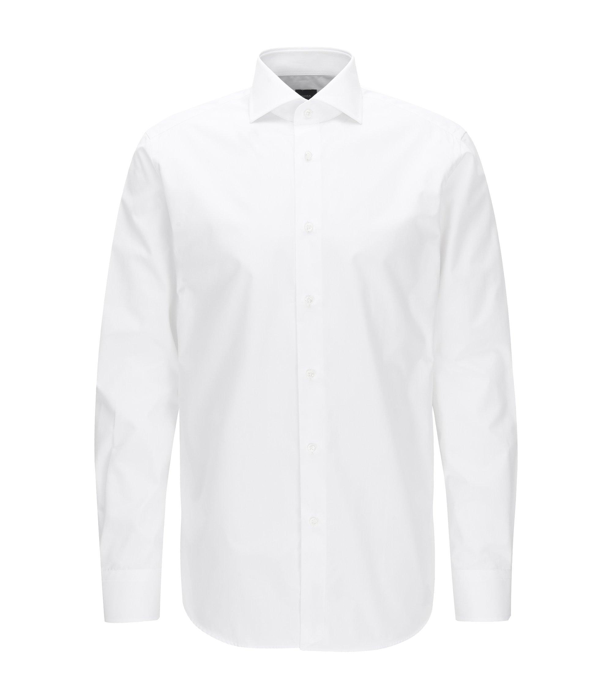 Camicia regular fit in cotone realizzato in Italia, Bianco