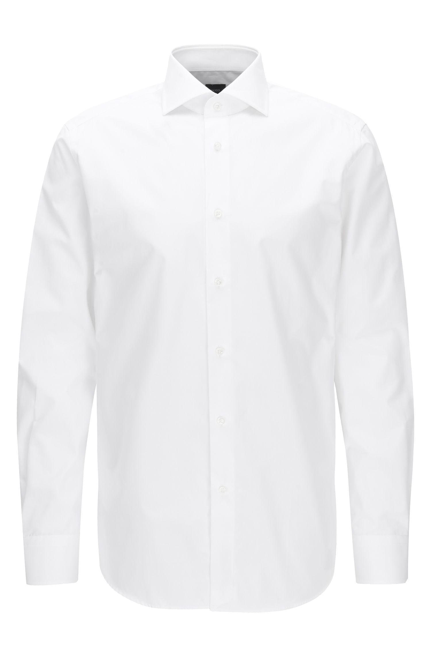 Regular-Fit-Hemd aus Vollzwirn-Baumwolle