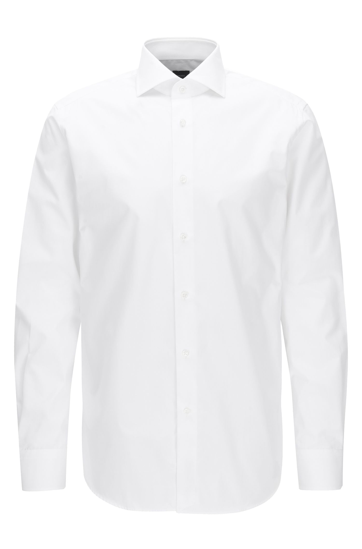 Regular-fit shirt in two-ply cotton