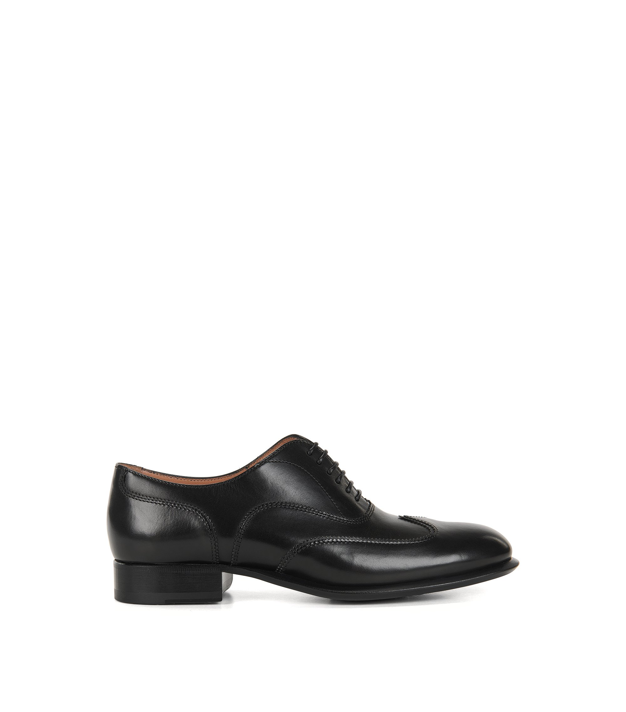 Lace-up leather formal shoes, Black