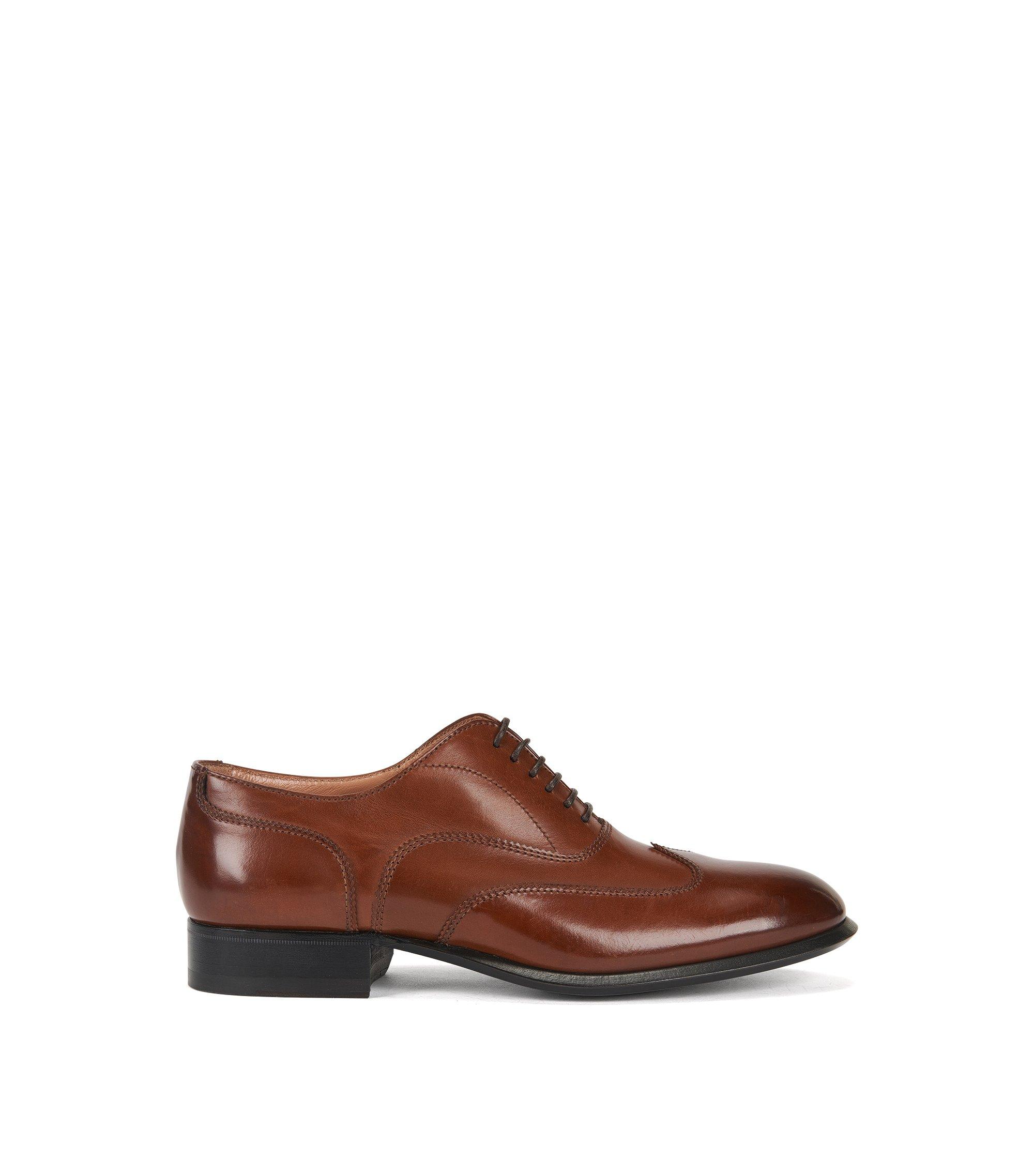 Chaussures habillées en cuir à lacets, Marron