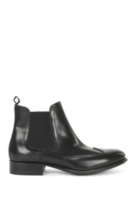 Leather Chelsea boots, Black