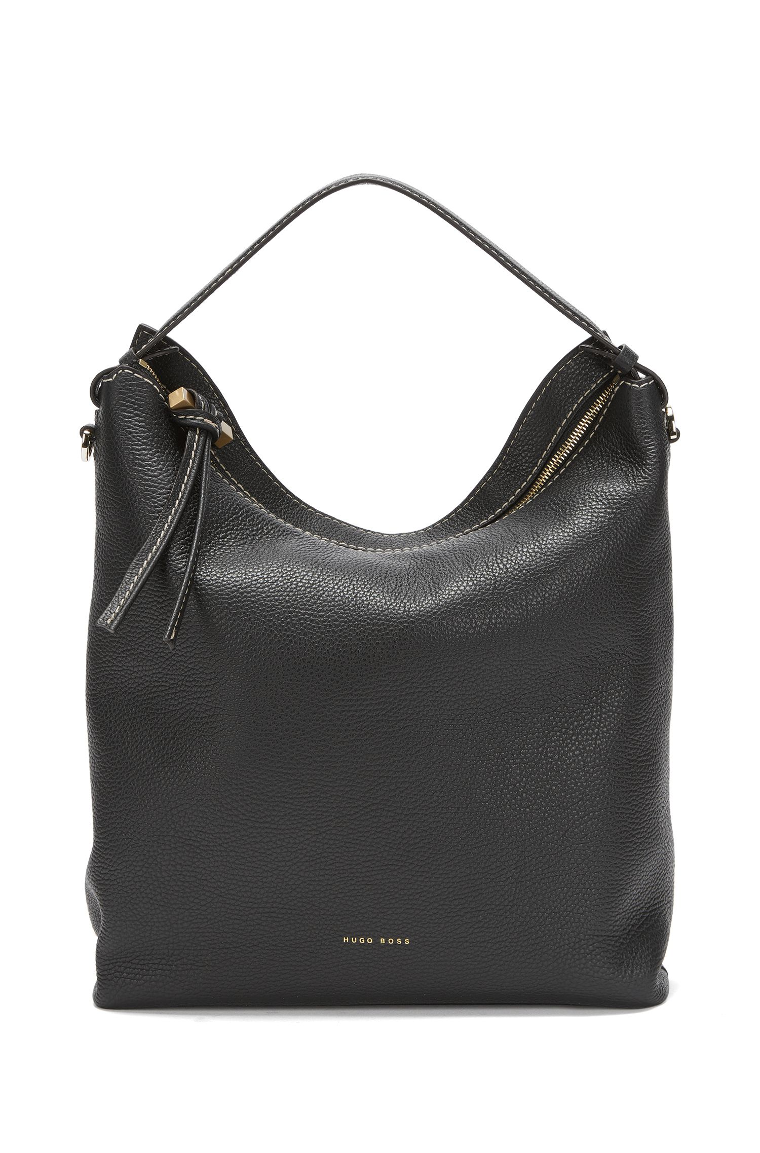 BOSS Bespoke hobo in Italian leather