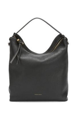 BOSS Bespoke hobo in Italian leather, Black