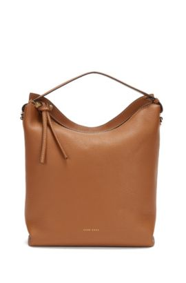 BOSS Bespoke hobo in Italian leather, Brown
