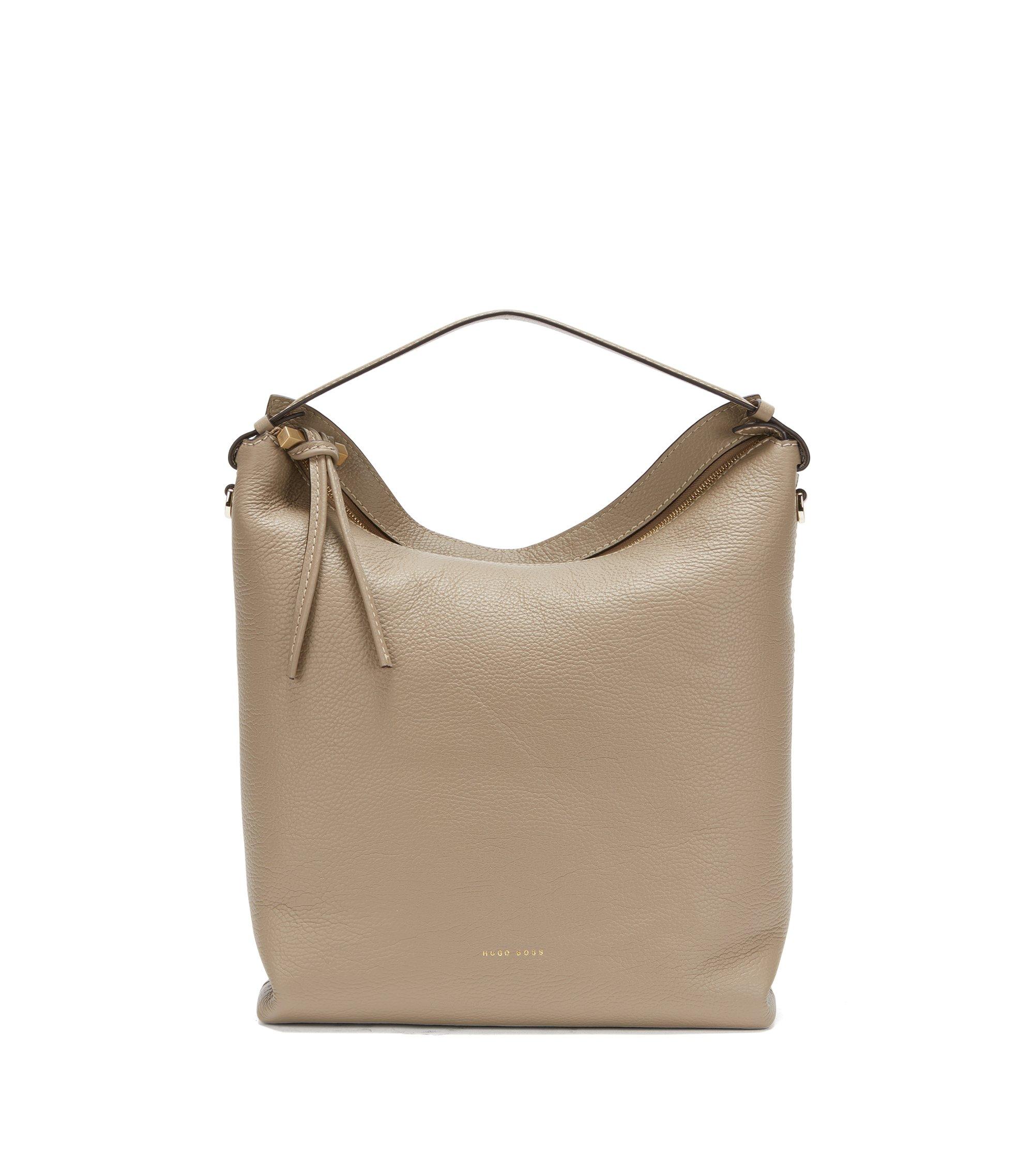 BOSS Bespoke Hobo Bag aus italienischem Leder, Beige