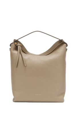 BOSS Bespoke hobo in Italian leather, Beige