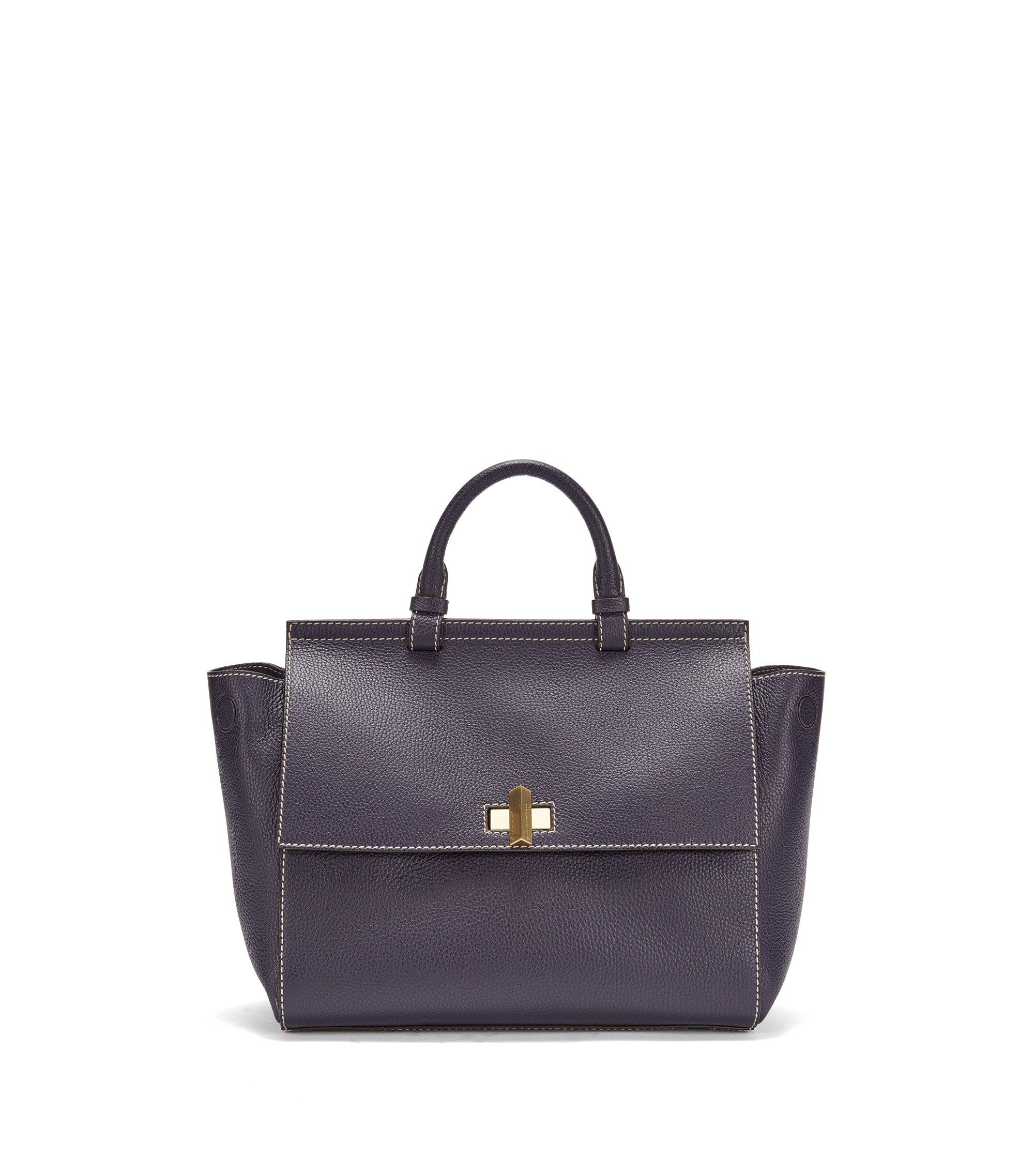 BOSS Bespoke Bag aus italienischem Leder, Dunkel Lila