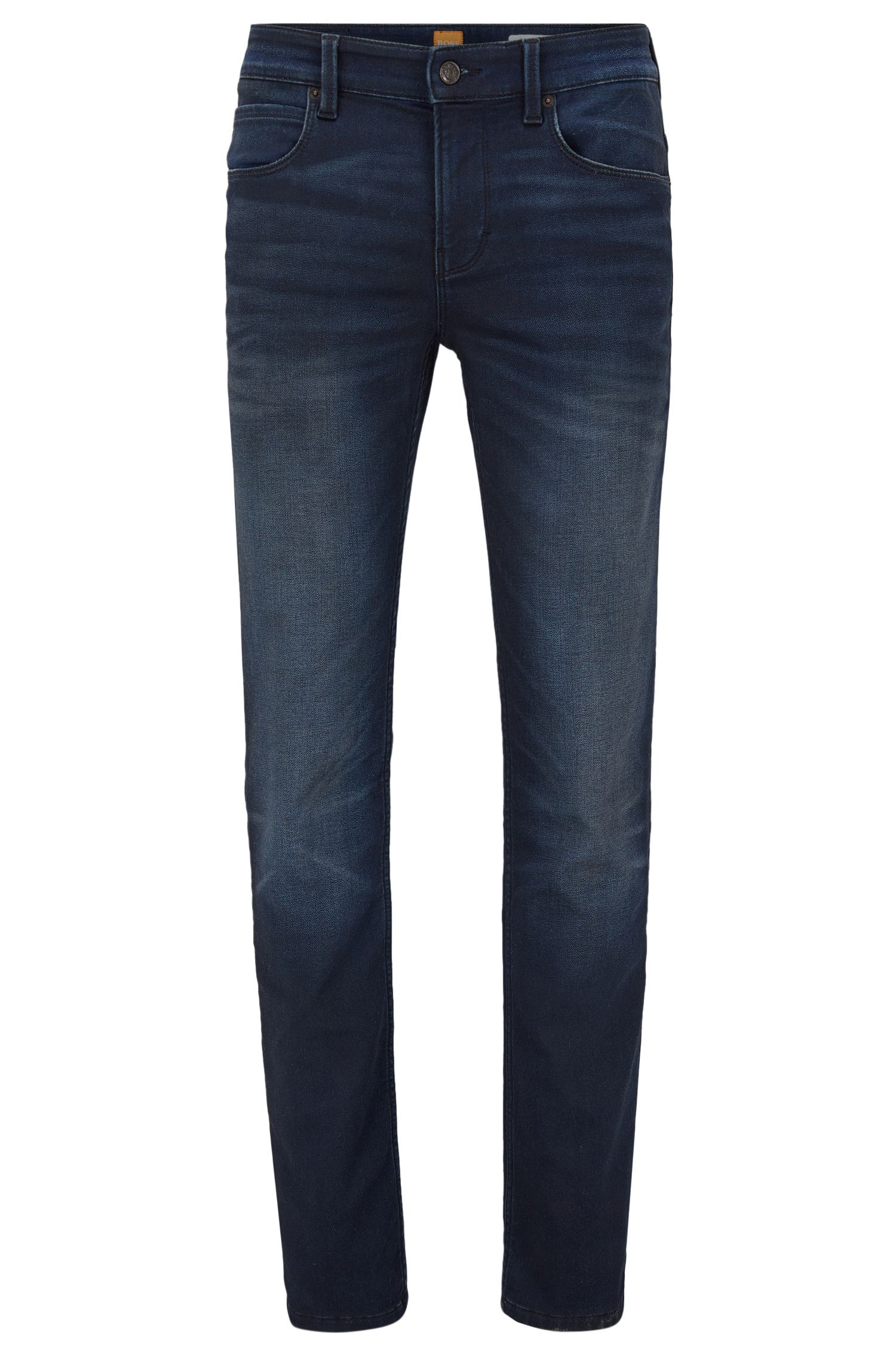 Jeans slim fit in denim in maglia