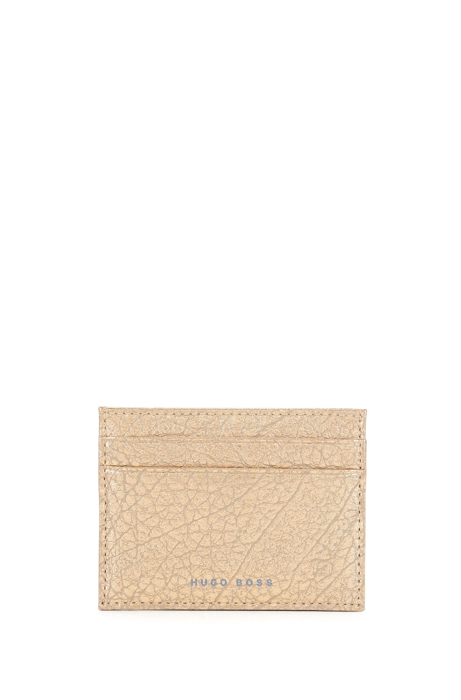 BOSS Bespoke Soft Kartenetui aus genarbtem Leder