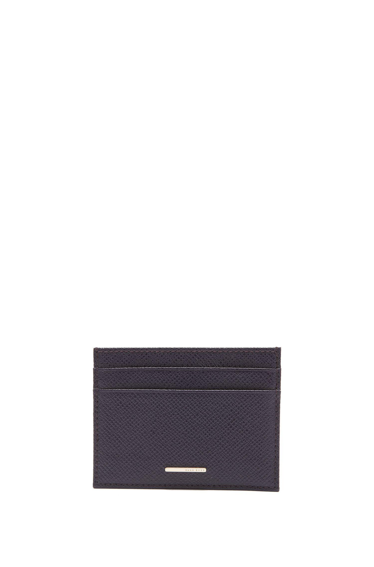 BOSS Luxury Staple card holder in leather