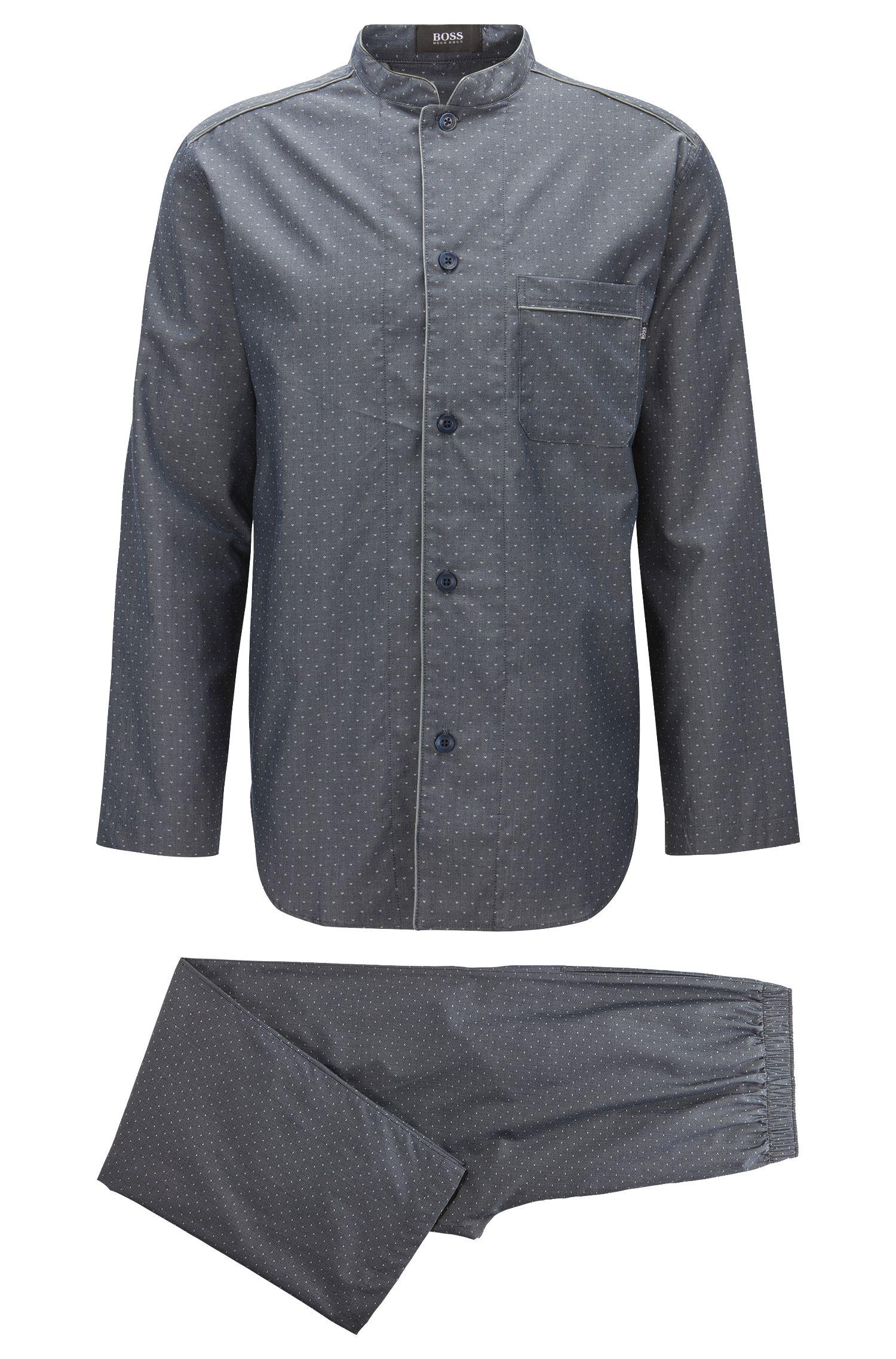 Pyjama à col mao en coton doux