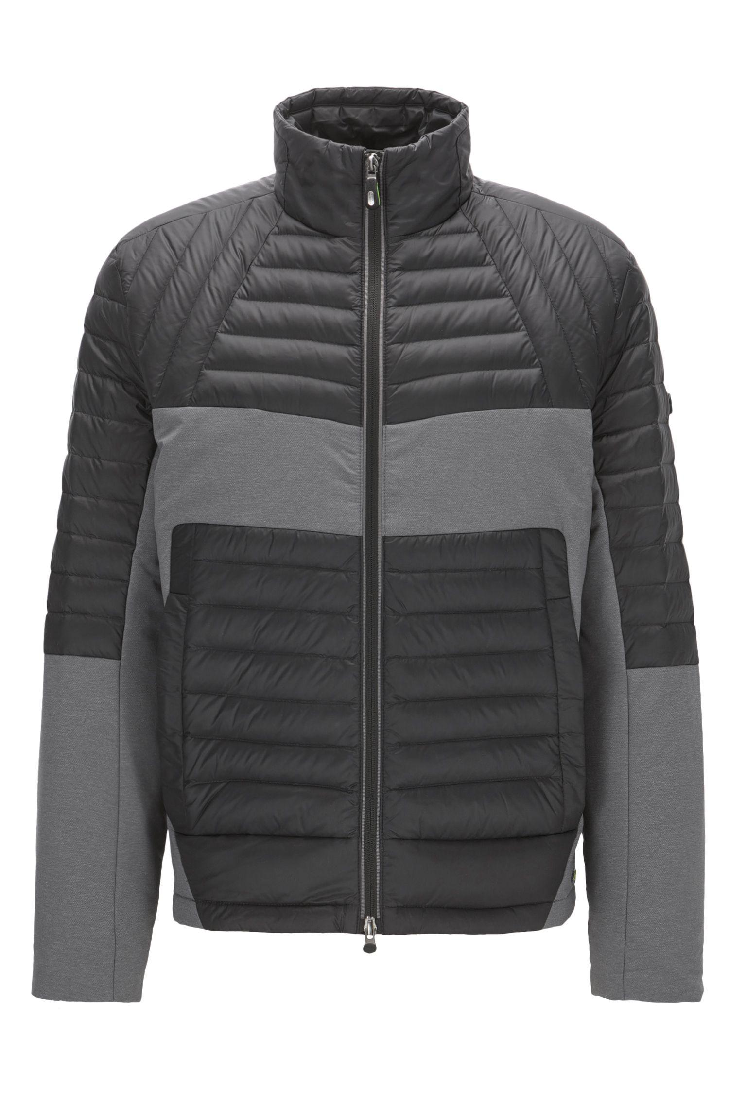 Regular-fit jacket in water-resistant fabric