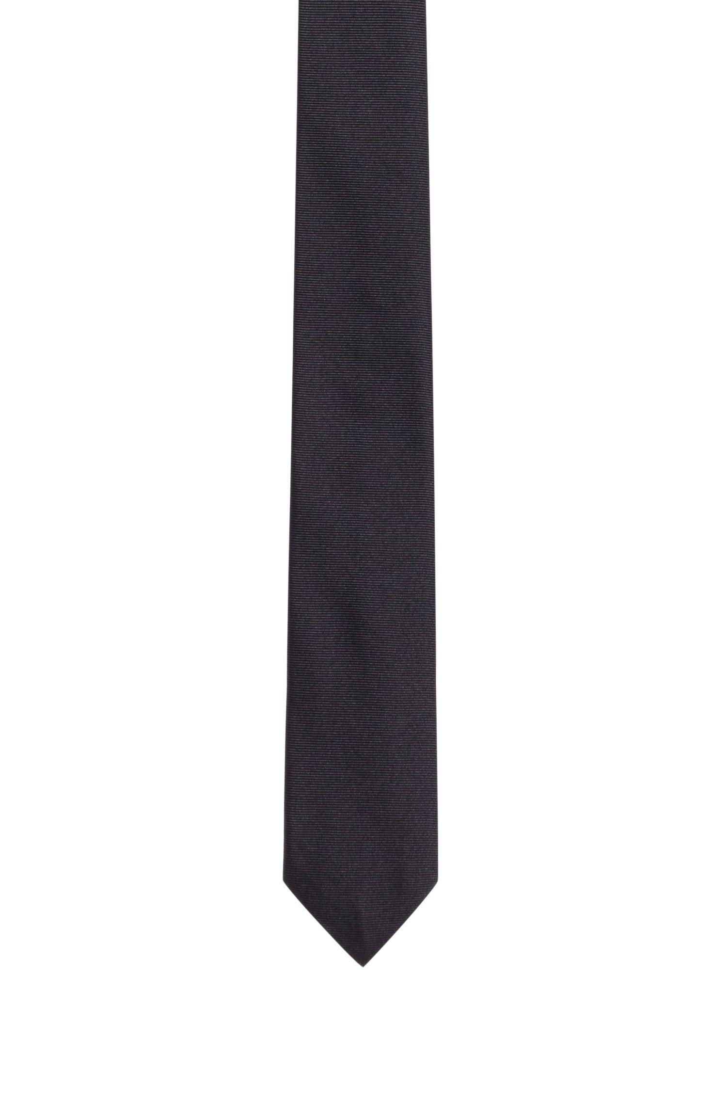 Corbata de seda en tejido de sarga