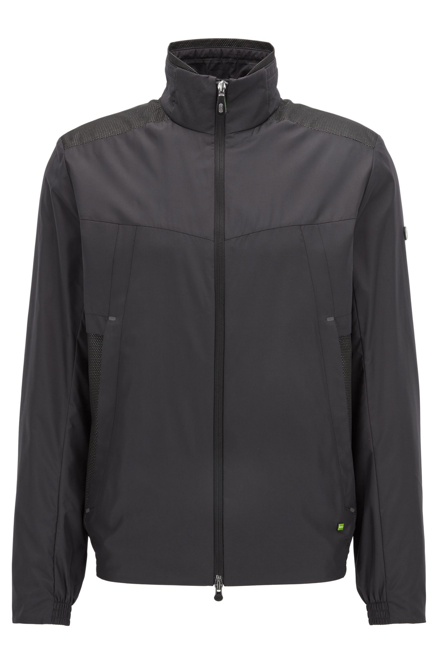 Packable regular-fit jacket in technical fabric