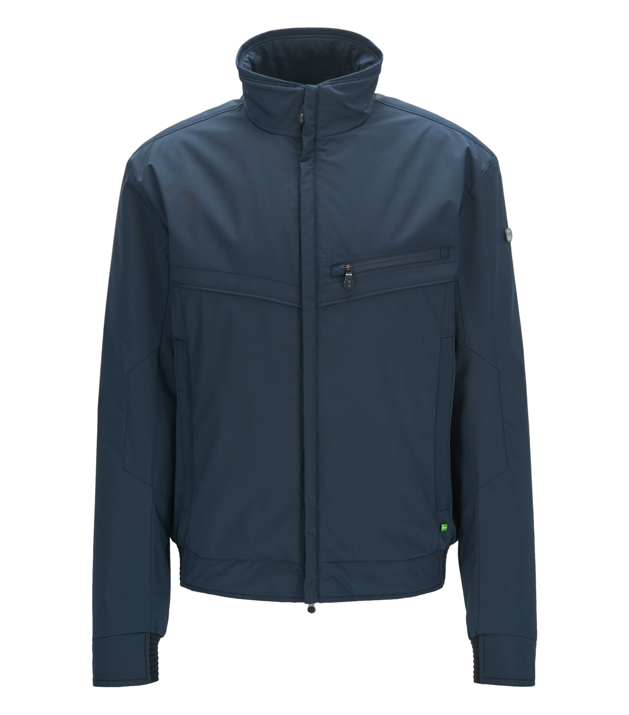 Regular-fit jacket in water-resistant fabric, Dark Blue