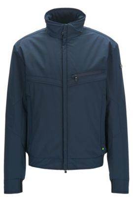 Regular-fit jacket in water-resistant fabric, Dark Blue