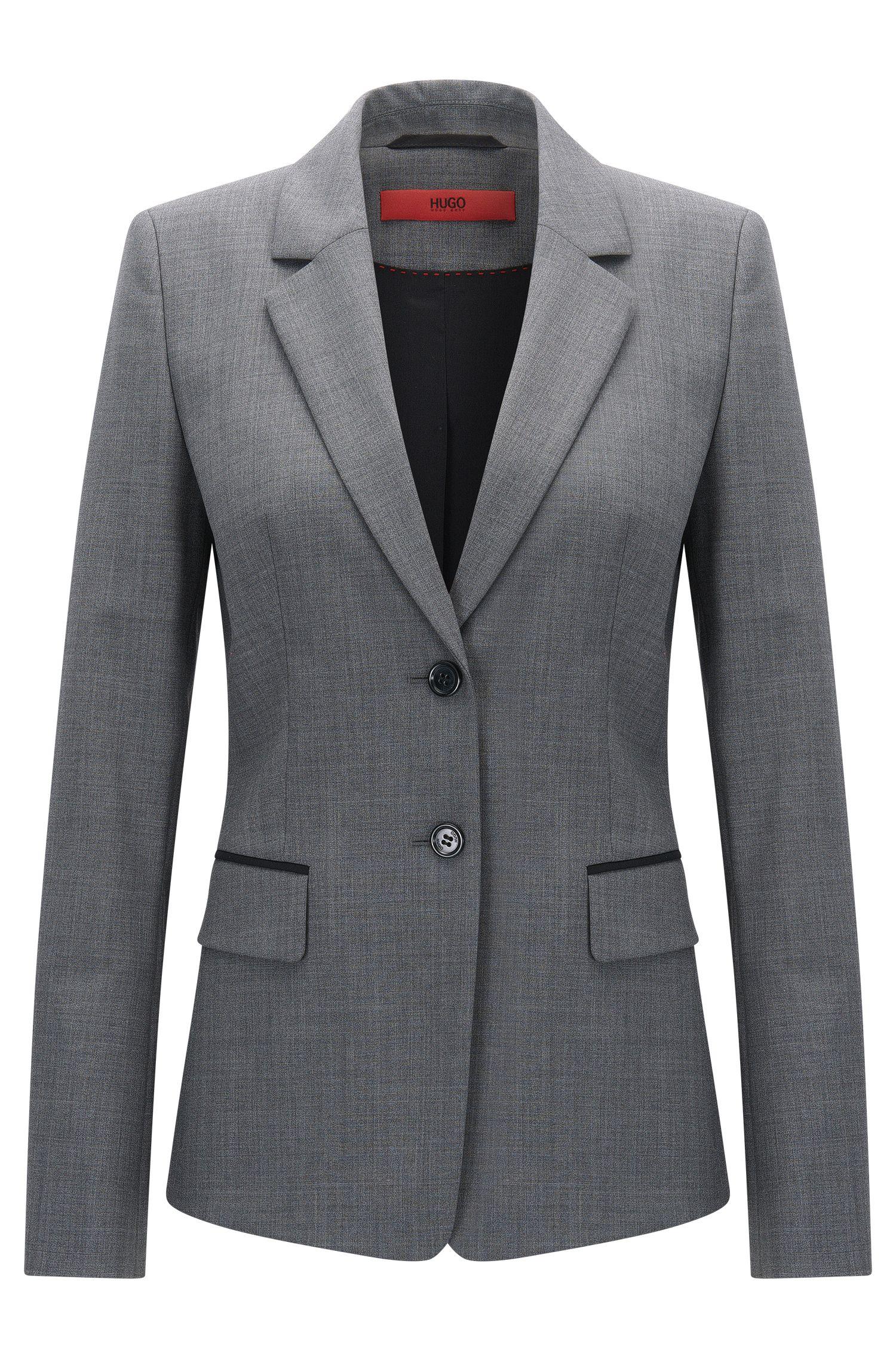 Regular-Fit Blazer aus elastischer Schurwolle