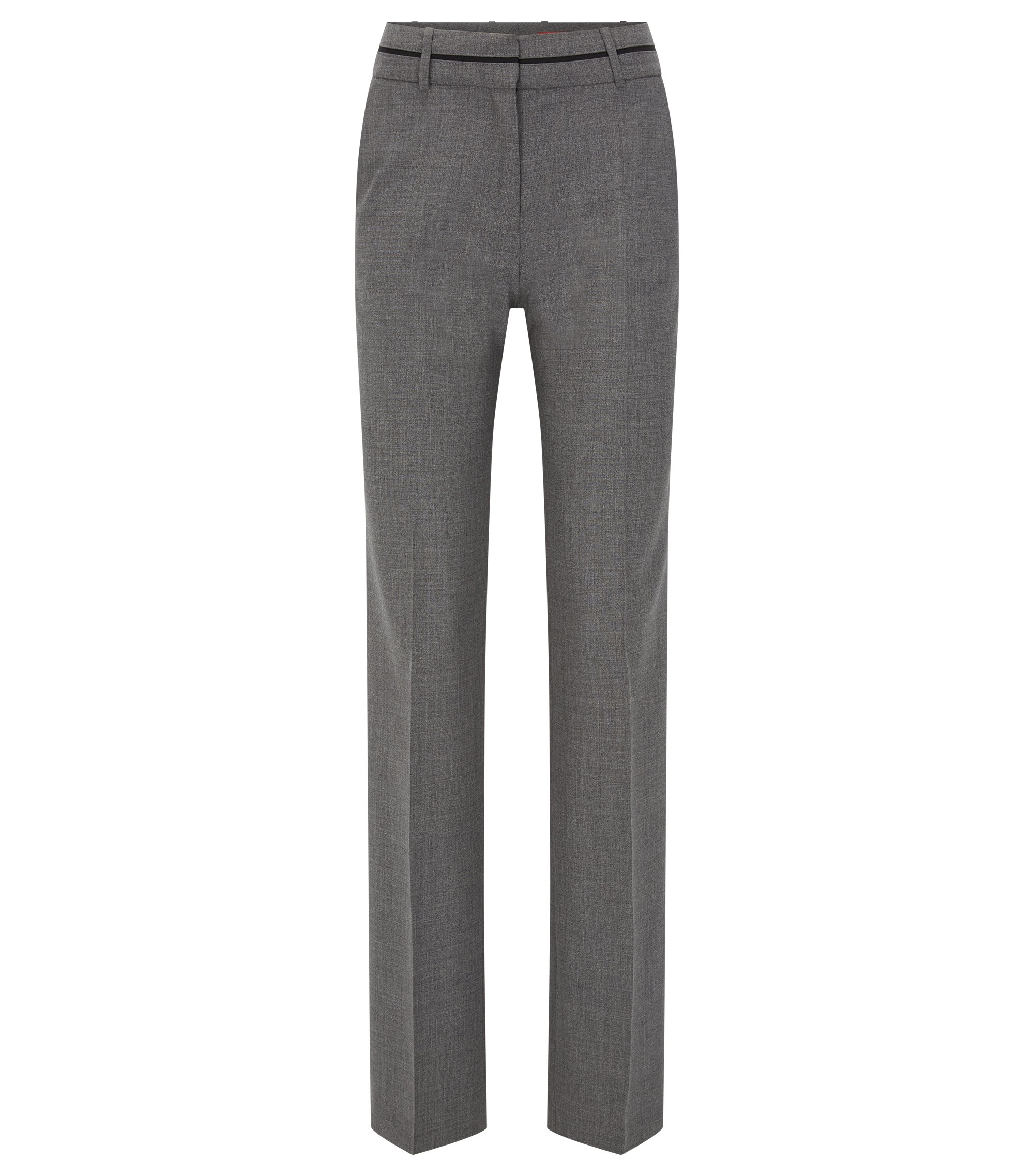 Regular-fit trousers in a virgin wool blend, Grey