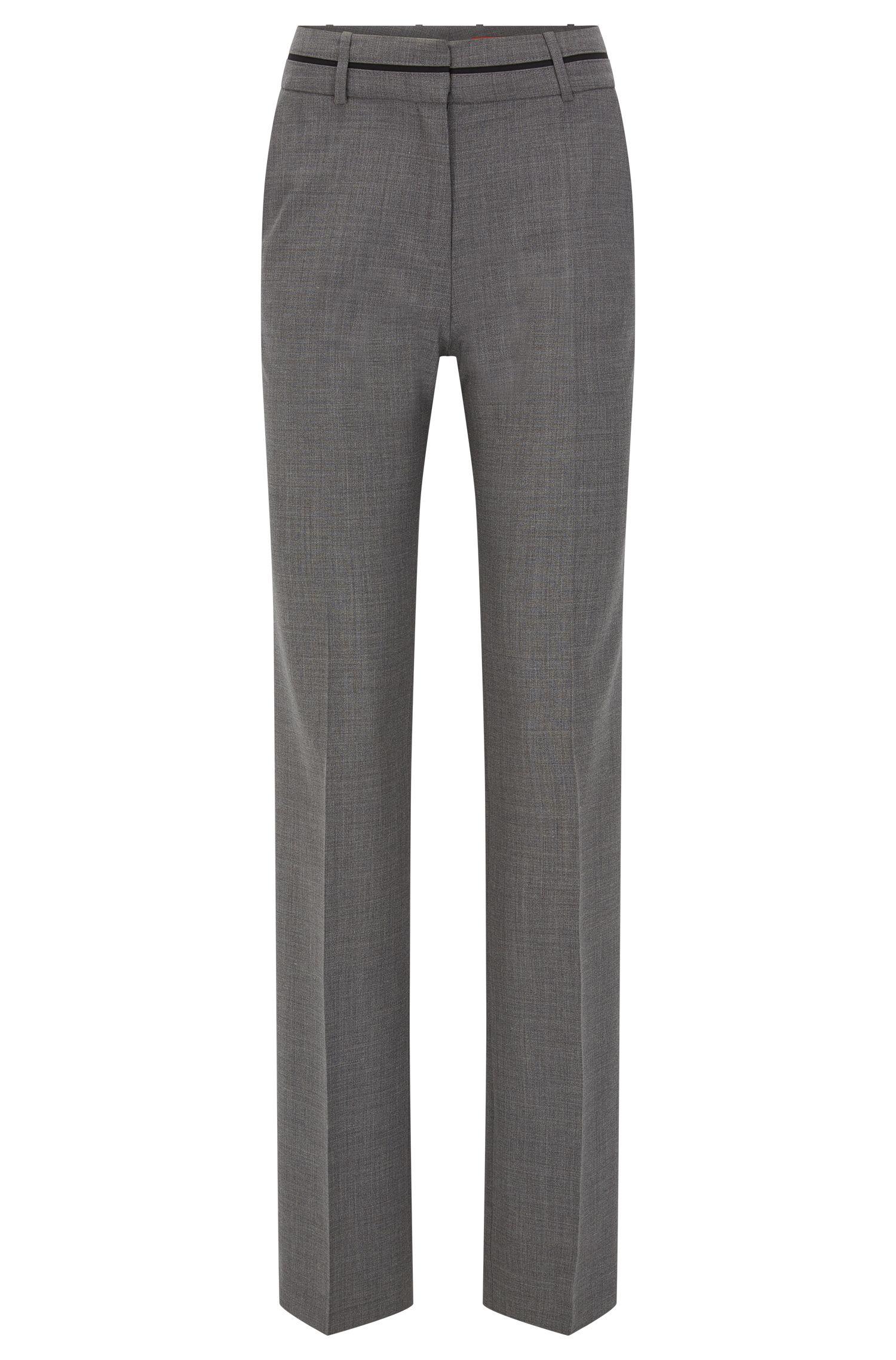 Regular-fit broek van een scheerwolmix